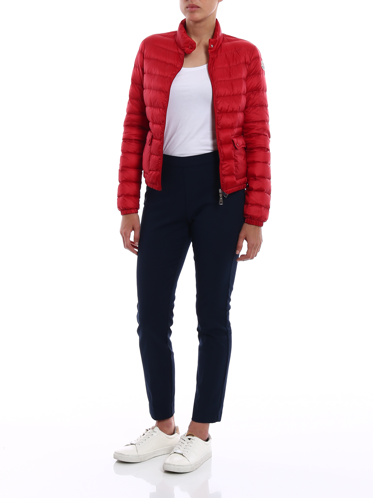 MONCLER: padded jackets online - Lans red puffer jacket