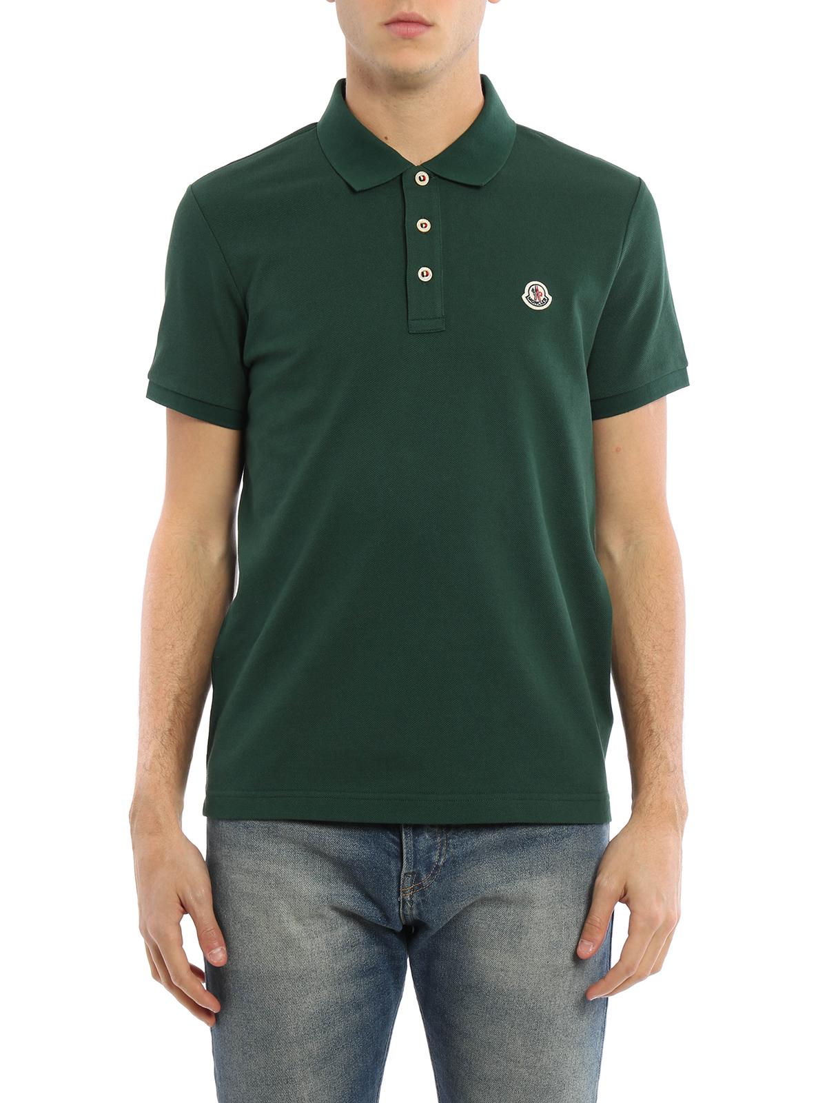 70ec4de4 Moncler - Plain cotton pique polo shirt - polo shirts - 091 8340800 ...