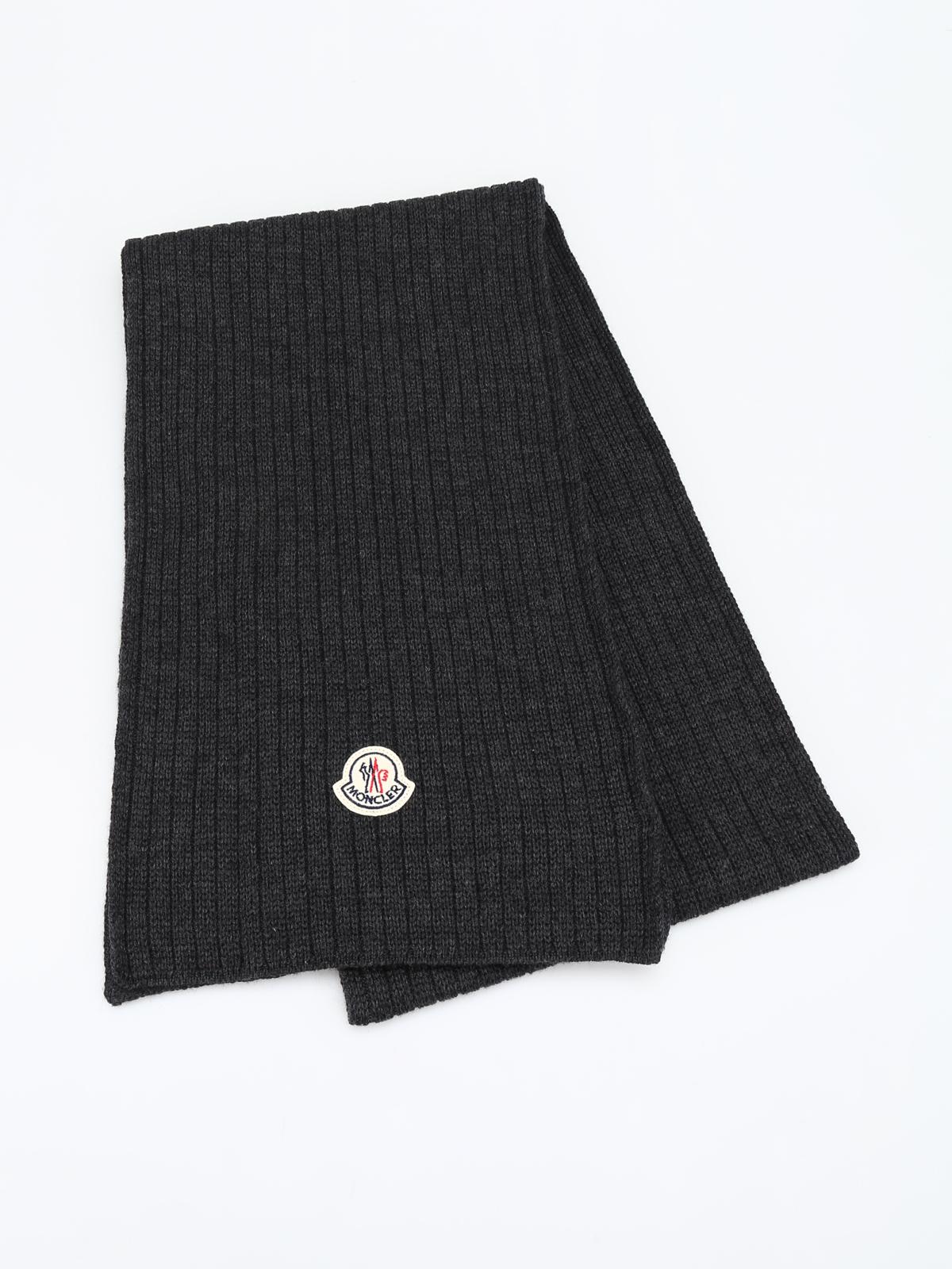 moncler grey scarf