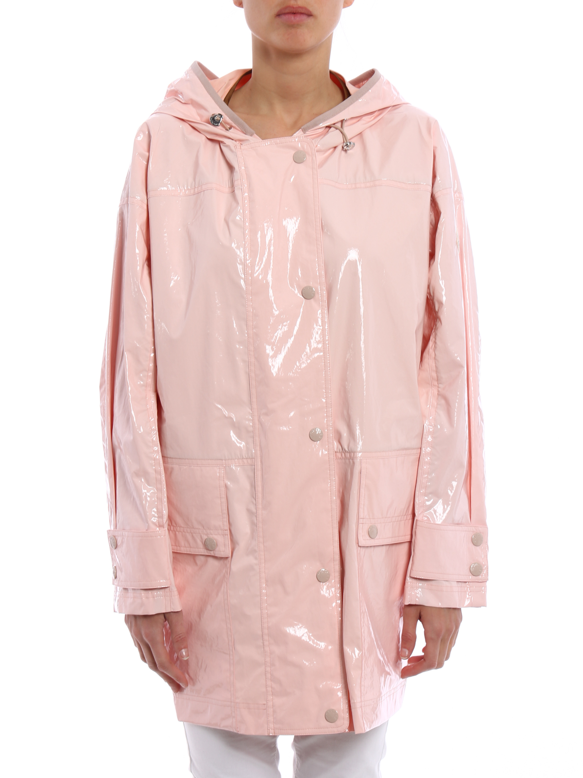 MONCLER: short coats online - Navet raincoat