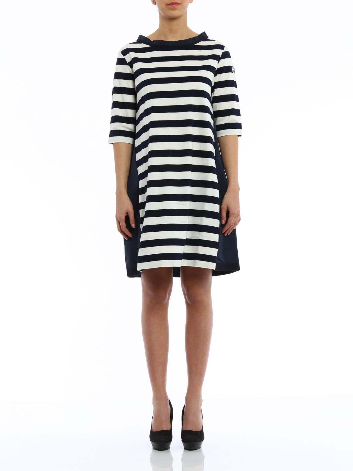 555df98ee755 Moncler - Abito in jersey di cotone e nylon - abiti corti - B1 093 ...