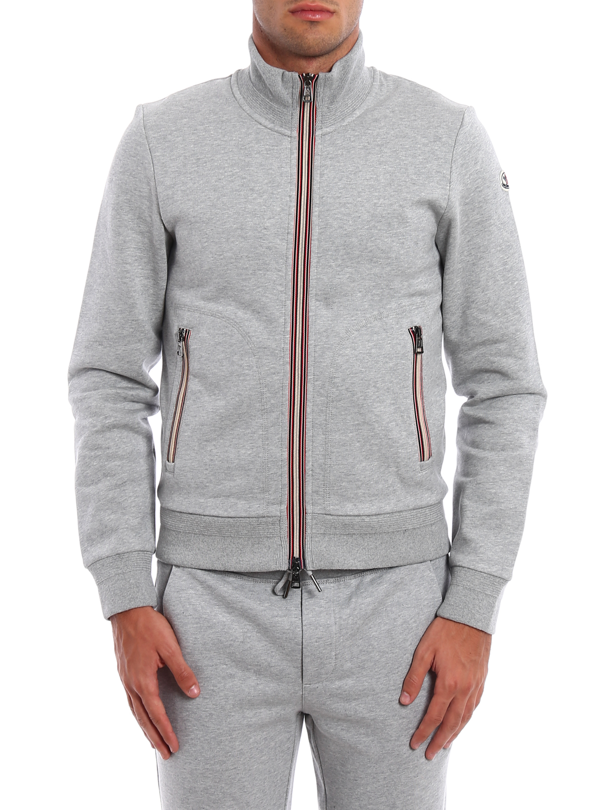 moncler zipper grey