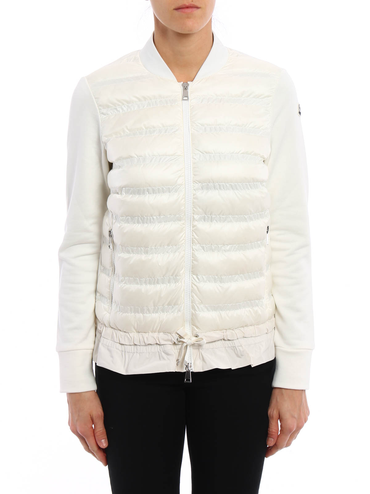 Moncler - Sweat-Shirts Et Pulls Blanc - Sweatshirts   Pulls - C1 093 ... b9f93dbce5e