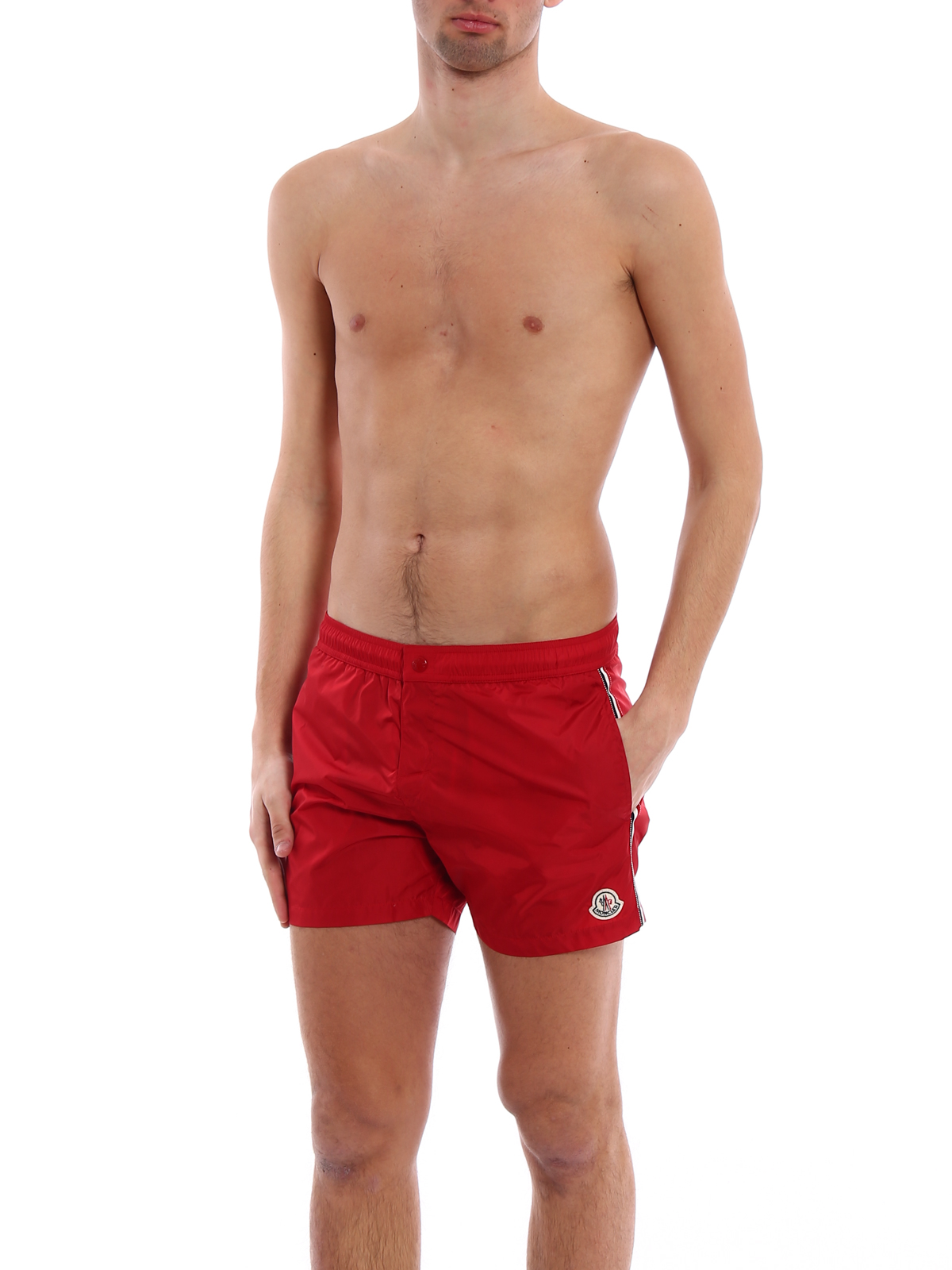 MONCLER: Swim shorts & swimming trunks online - Red swim shorts