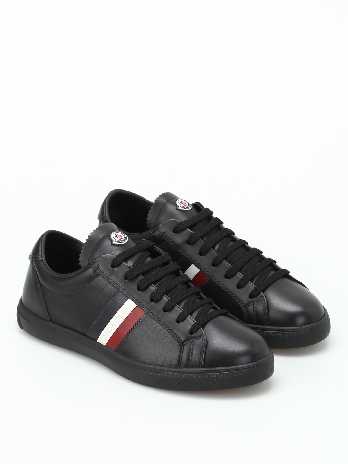 La Monaco black leather sneakers