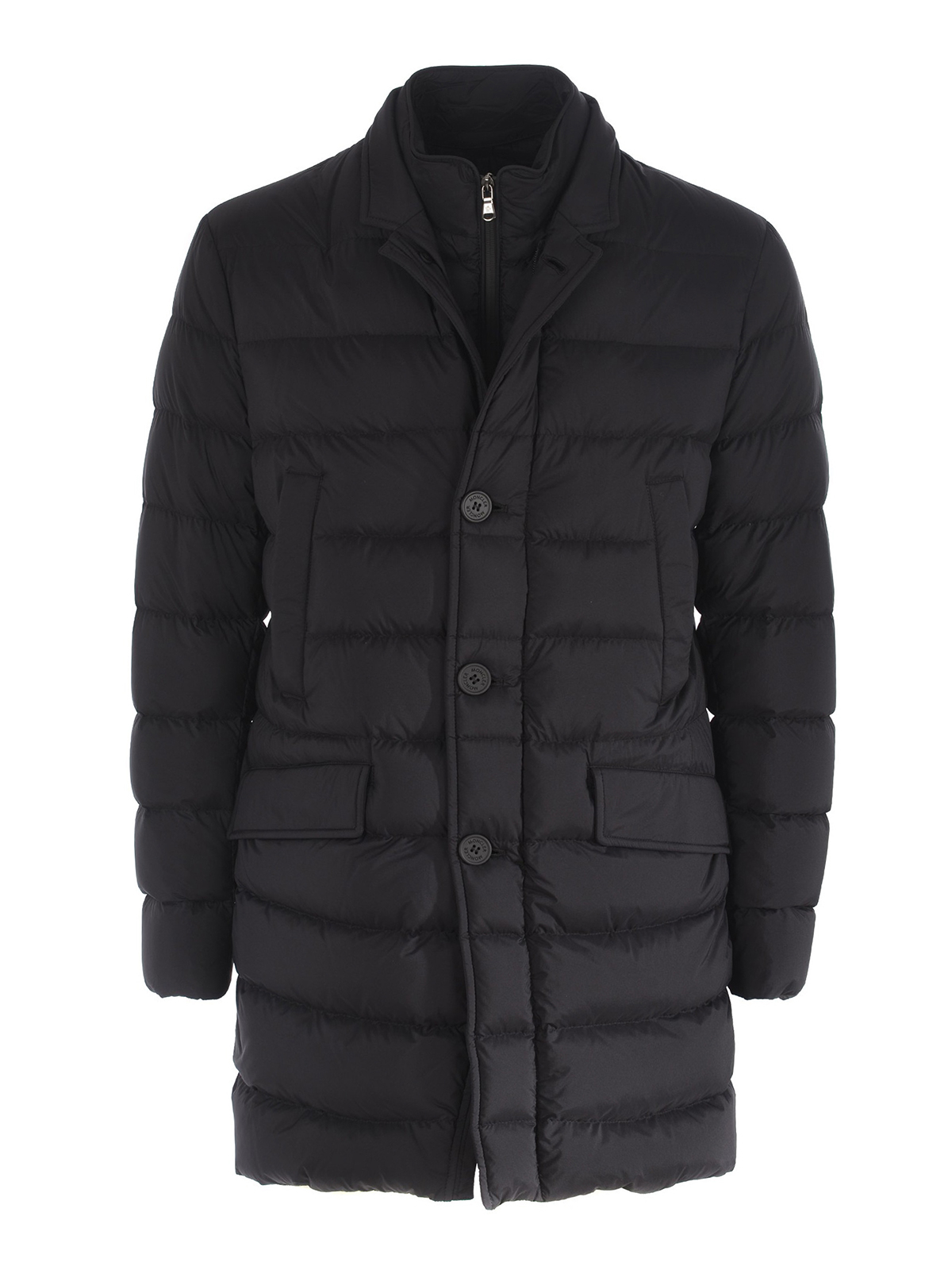 cf0beba19 Moncler - Keid black matte nylon puffer coat - padded coats ...