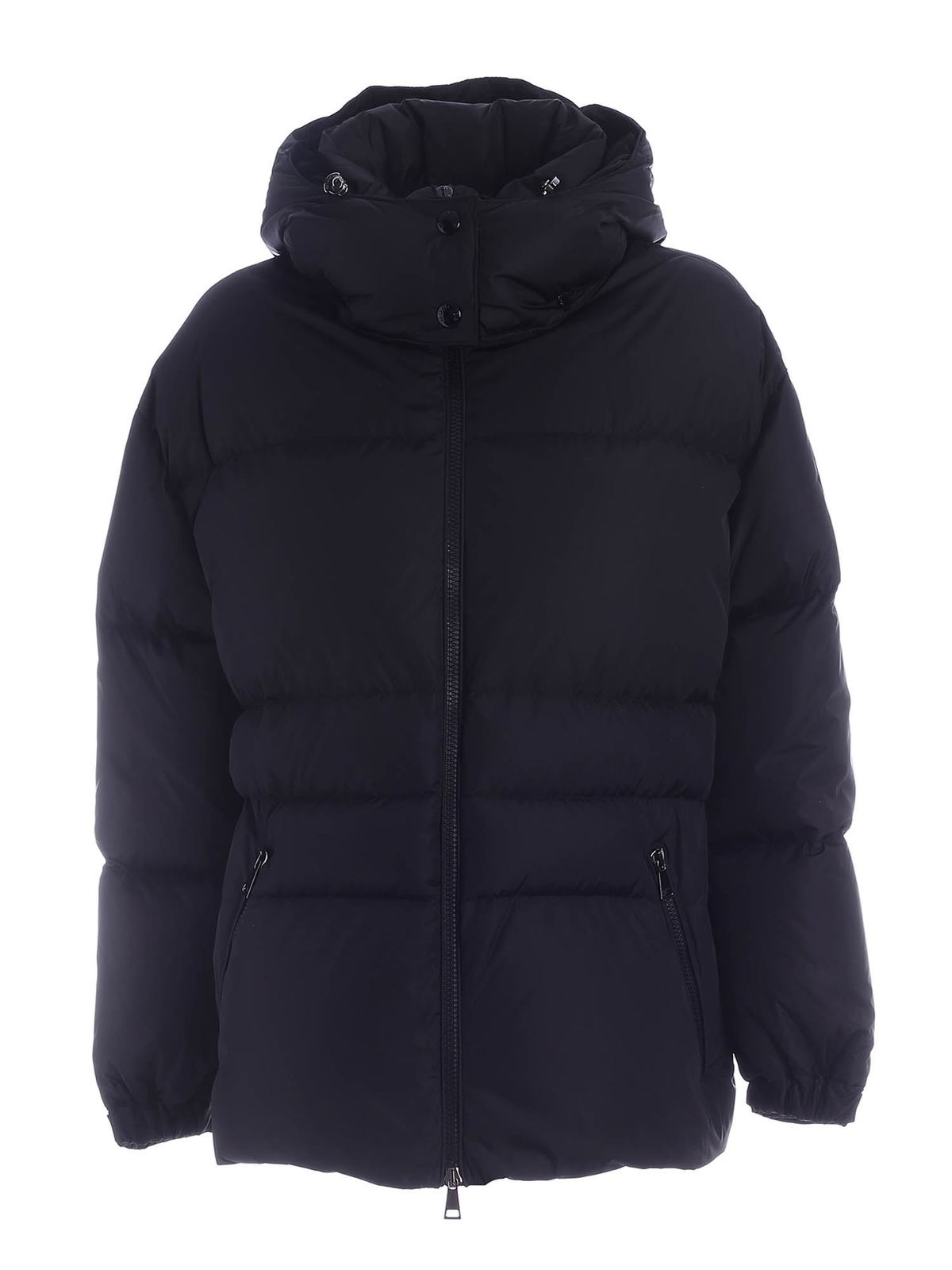 Moncler TIAC DOWN JACKET IN BLACK FEATURING HOOD