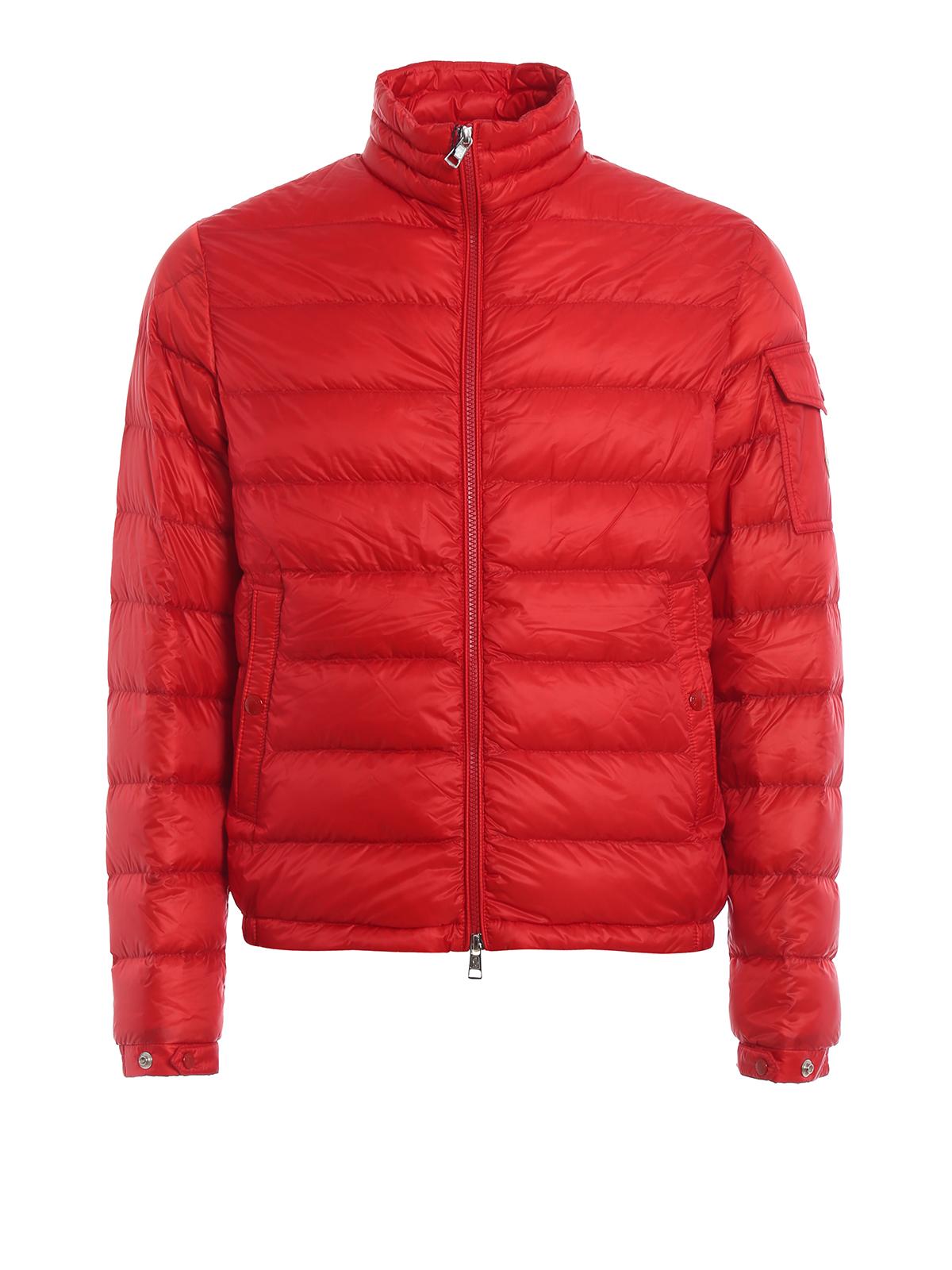 5c14713af Moncler - Lambot red puffer jacket - padded jackets - E1 091 4039399 ...
