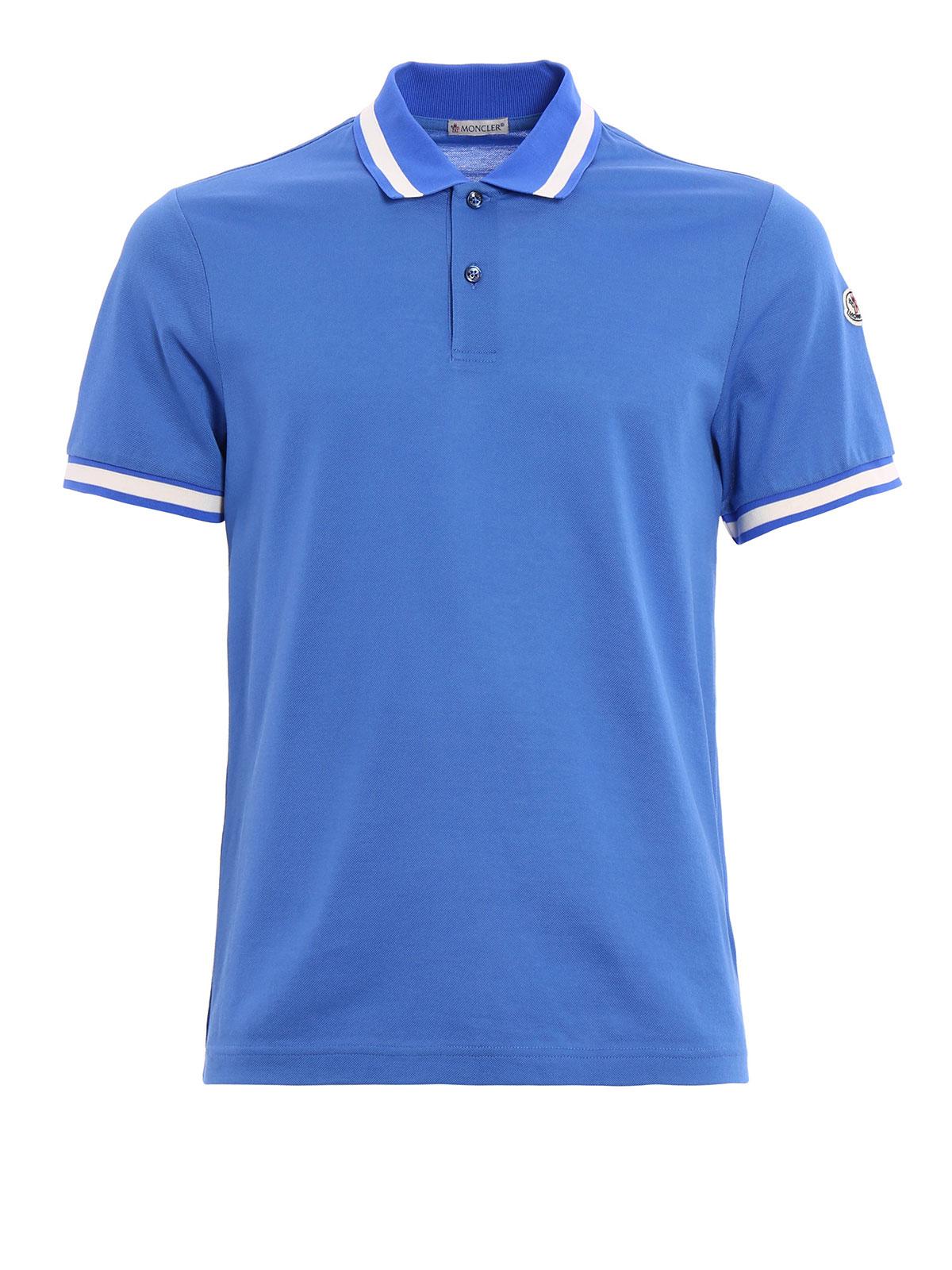 Contrasting collar polo shirt by moncler polo shirts ikrix Polo shirts without collar