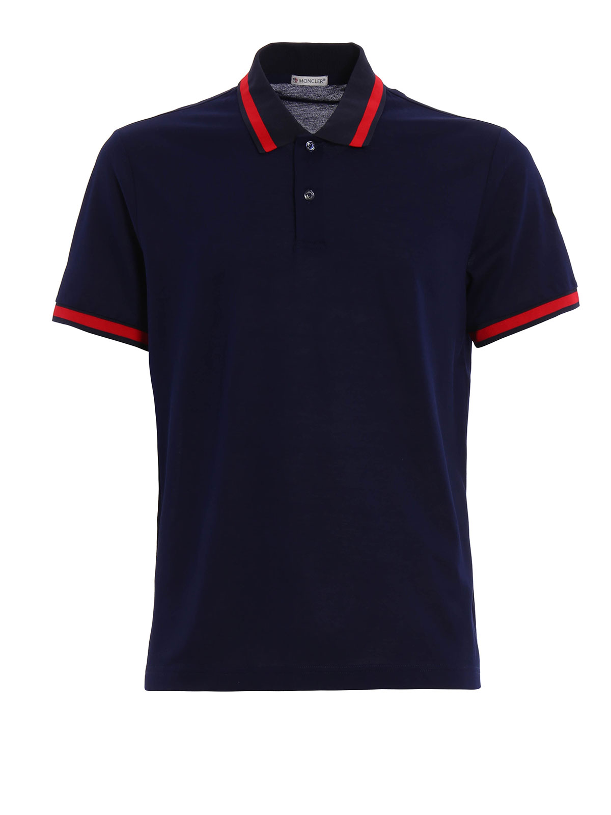 Contrasting Collar Polo Shirt By Moncler Polo Shirts Ikrix