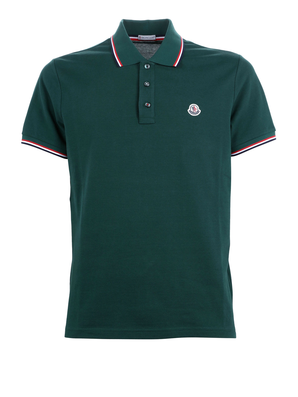 Contrasting trim polo shirt by moncler polo shirts ikrix for Moncler polo shirt sale