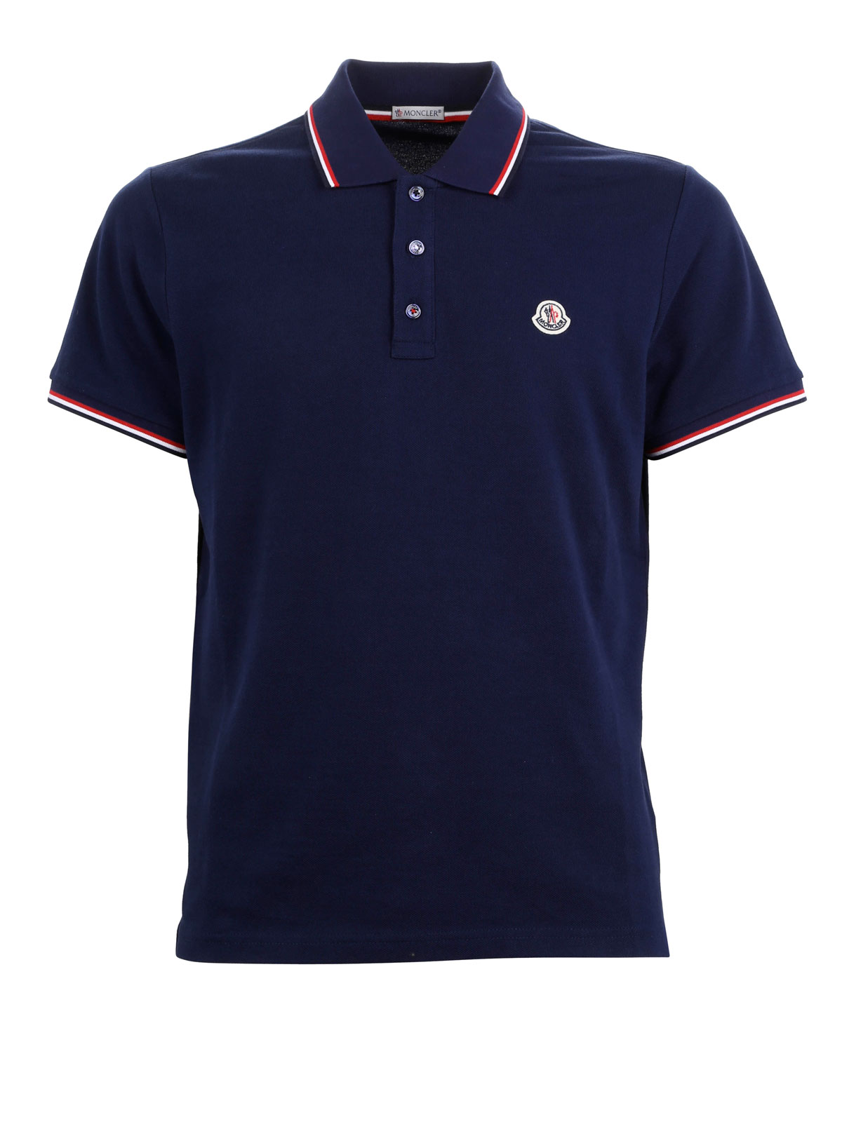 moncler contrasting trim polo shirt polo shirts c1 091 8345600 84556 783. Black Bedroom Furniture Sets. Home Design Ideas