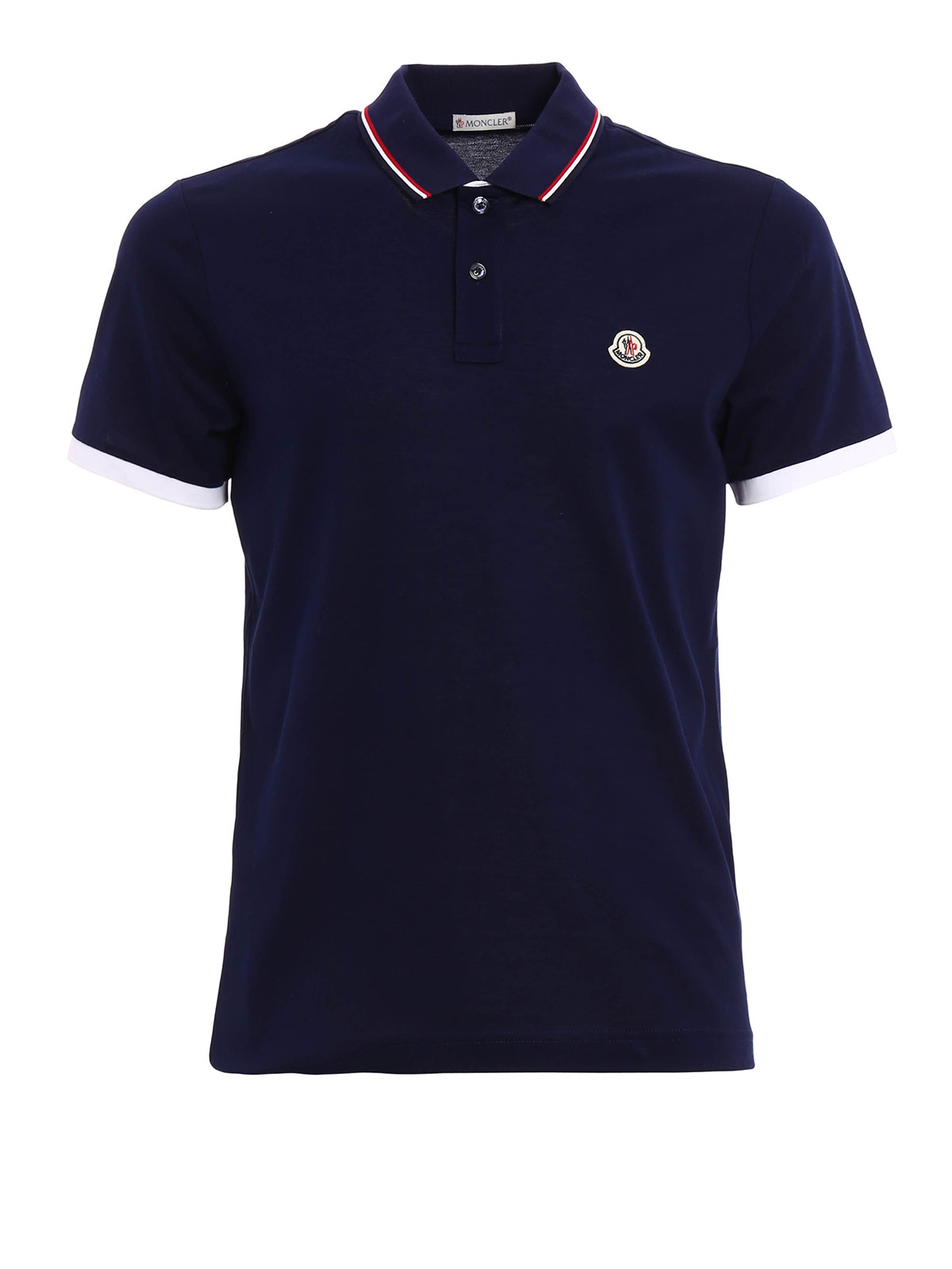moncler cotton pique polo shirt polo shirts 8317500 84673 783. Black Bedroom Furniture Sets. Home Design Ideas