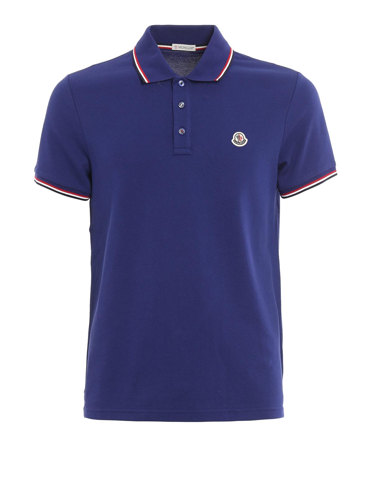 Cotton Pique Polo Shirt By Moncler Polo Shirts Ikrix