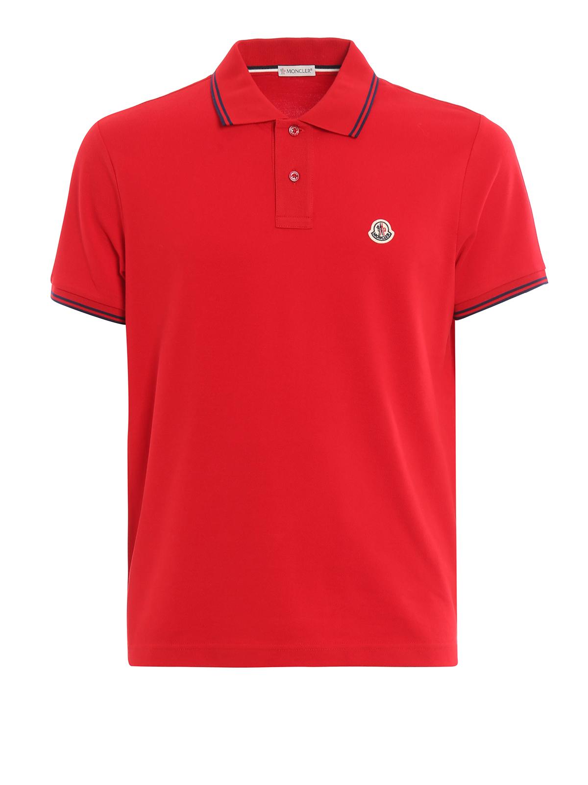 Cotton striped collar polo shirt by moncler polo shirts for Cotton on polo shirt