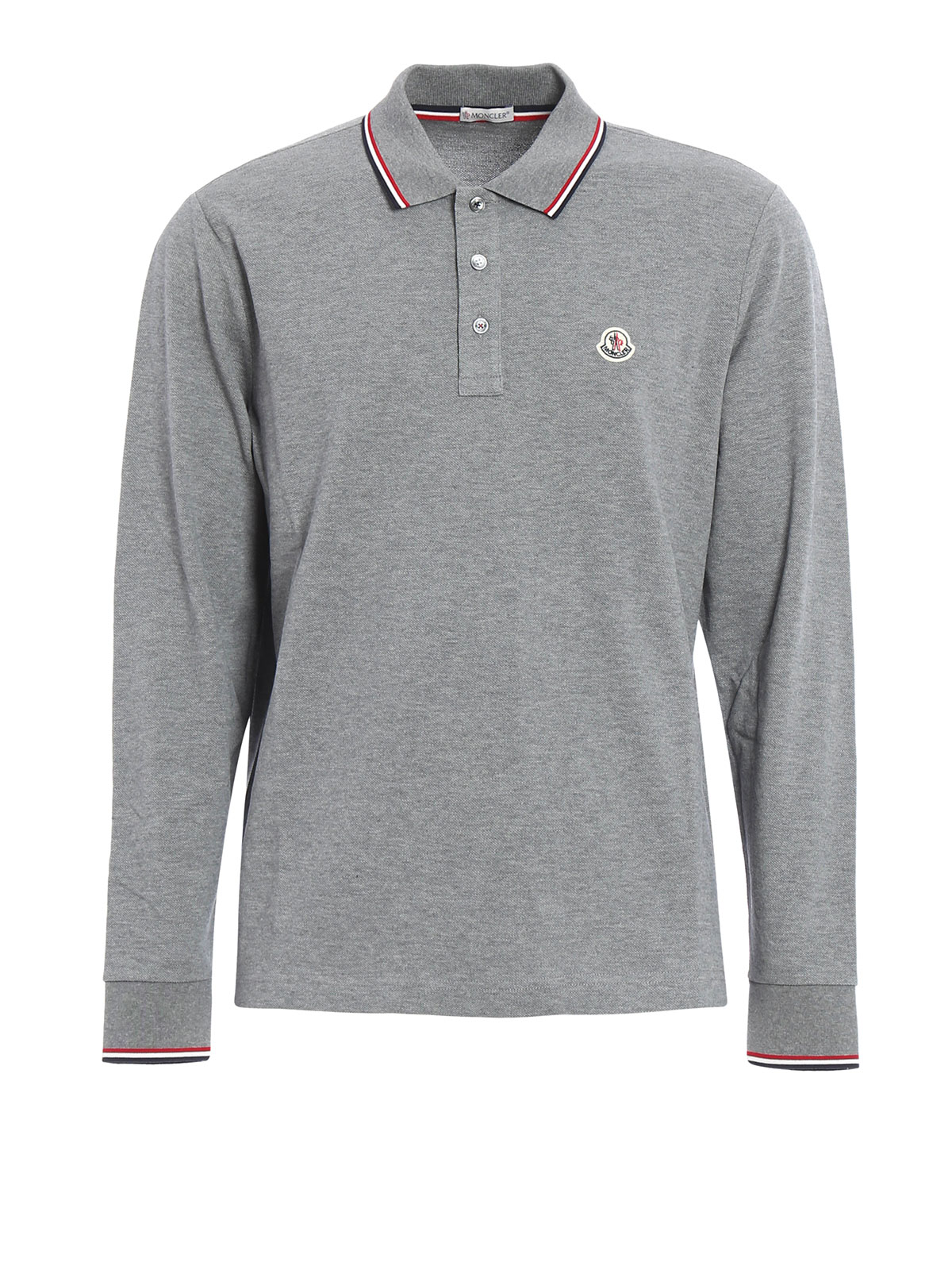 moncler long sleeved cotton polo shirt polo shirts c2 091 8348000 84556 987. Black Bedroom Furniture Sets. Home Design Ideas