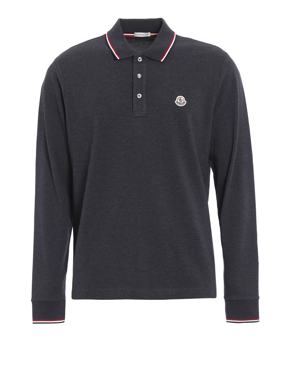 long sleeved cotton polo shirt by moncler polo shirts ikrix. Black Bedroom Furniture Sets. Home Design Ideas