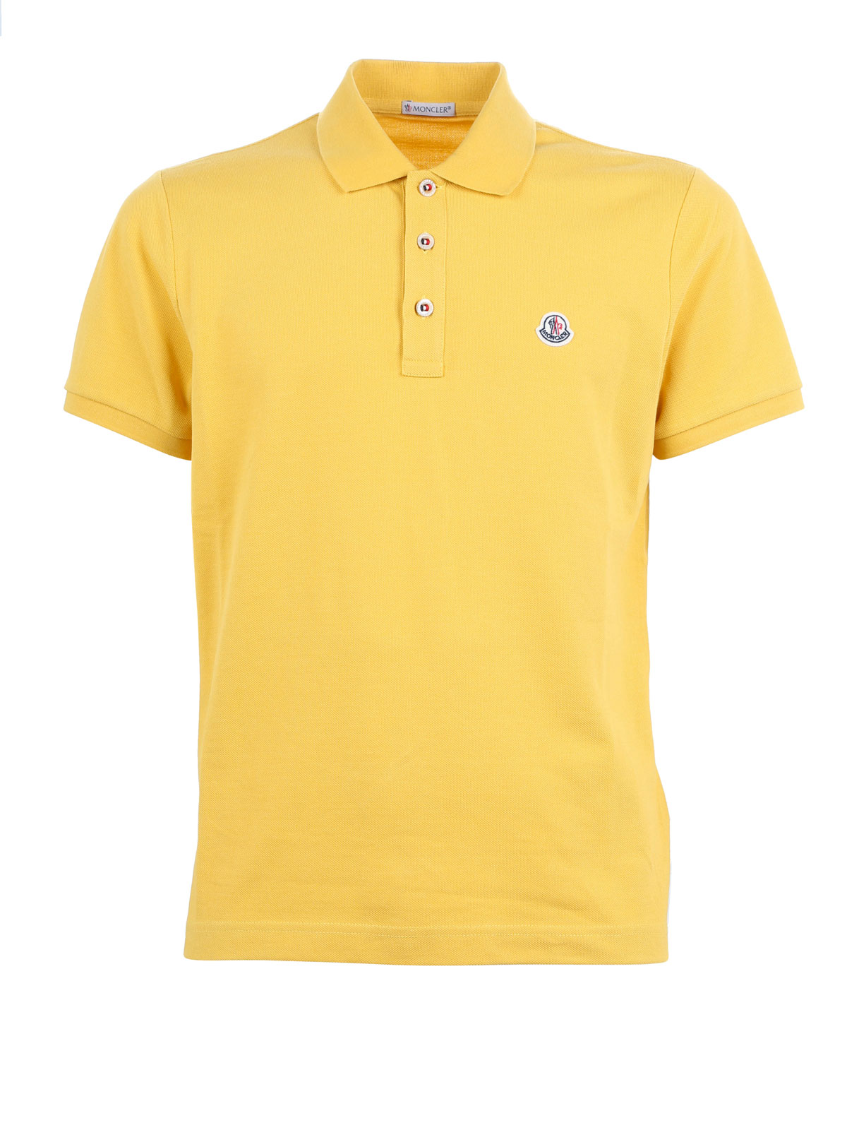 Moncler Poloshirt Fur Herren Gelb Poloshirts B1 091