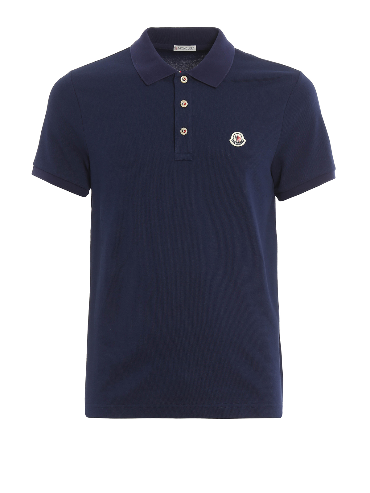 plain cotton pique polo shirt by moncler polo shirts ikrix. Black Bedroom Furniture Sets. Home Design Ideas