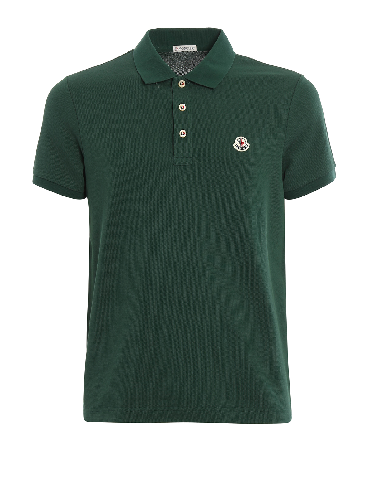 plain cotton pique polo shirt by moncler polo shirts ikrix