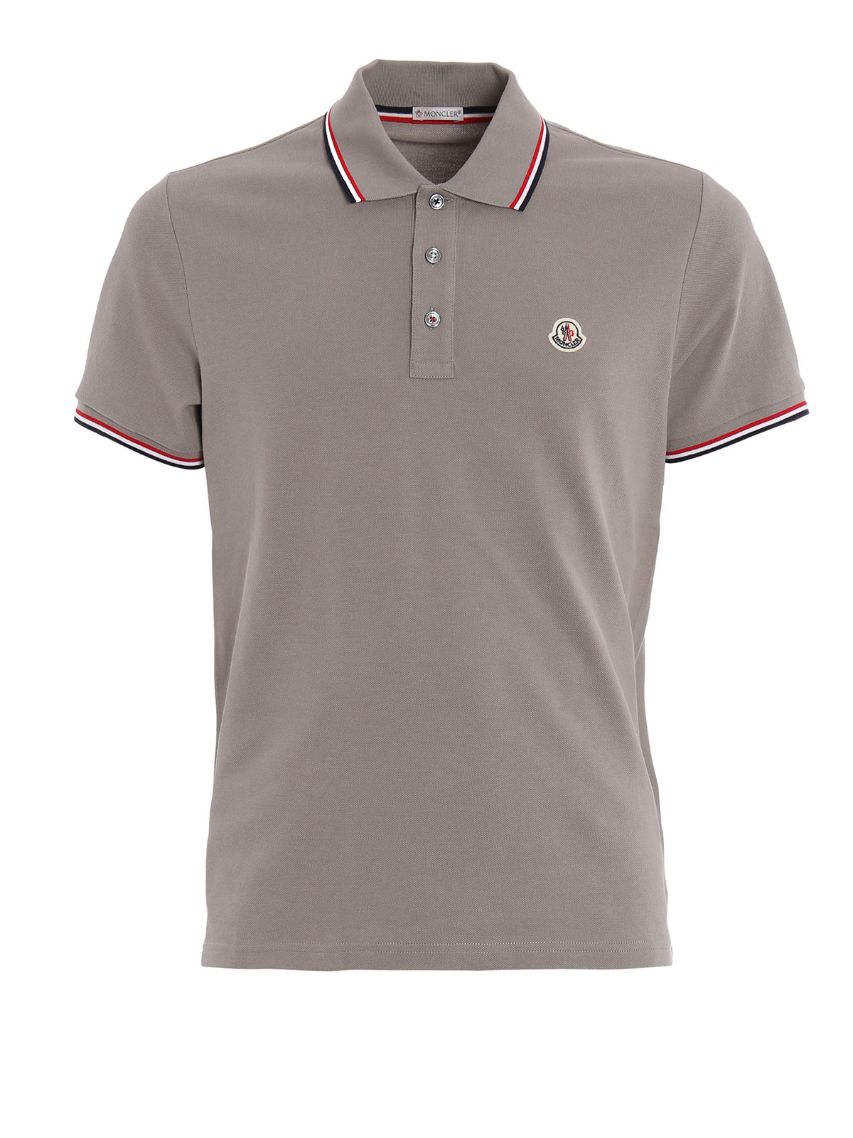 stitched logo pique polo by moncler polo shirts ikrix. Black Bedroom Furniture Sets. Home Design Ideas