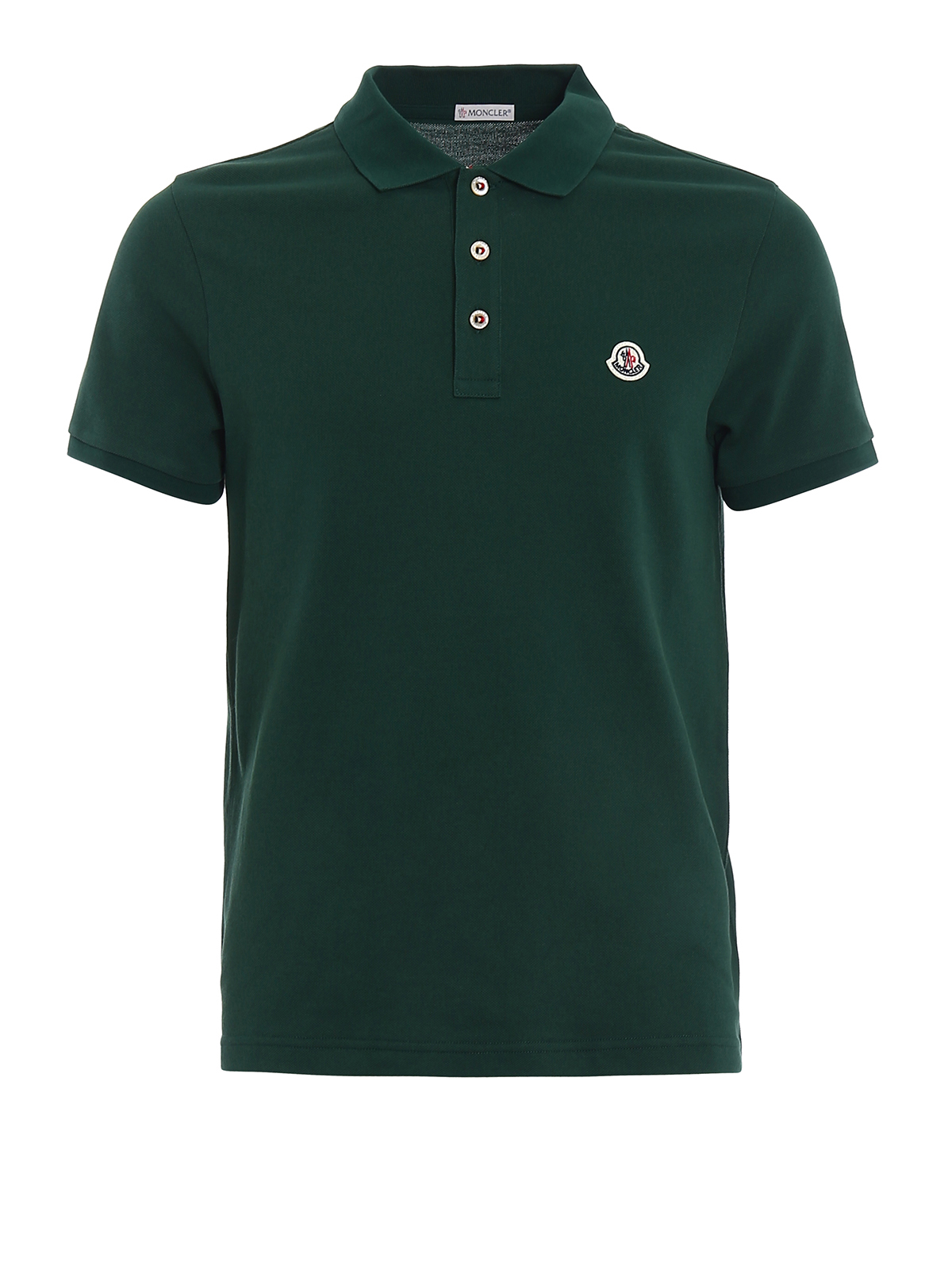 a4b32004e Moncler - Tricolour placket green polo shirt - polo shirts - D1 091 ...