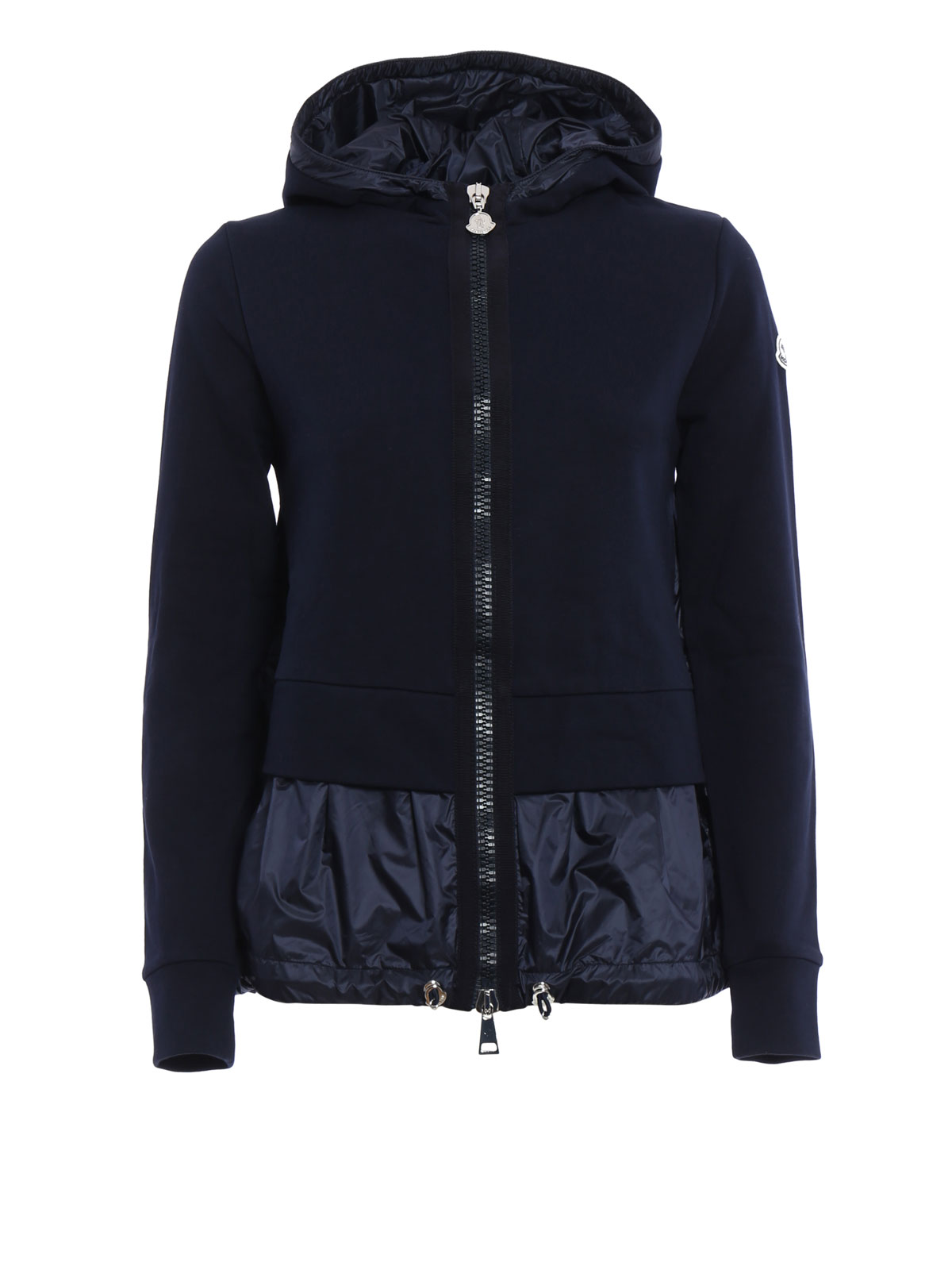 cb6f1c607 Moncler - Cotton and nylon hoodie - Sweatshirts   Sweaters - B1 093 ...