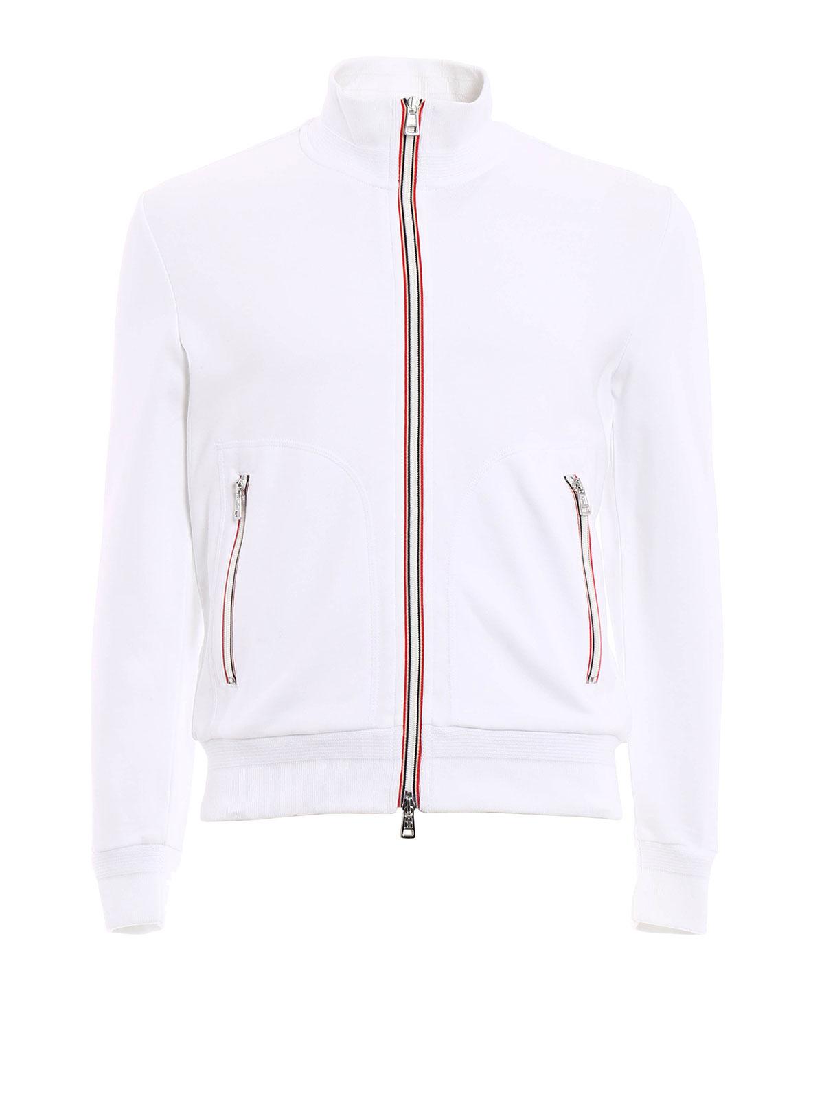 Moncler - Sweat-Shirts Et Pulls Blanc - Sweatshirts   Pulls - B1 091 ... dbc9289f347