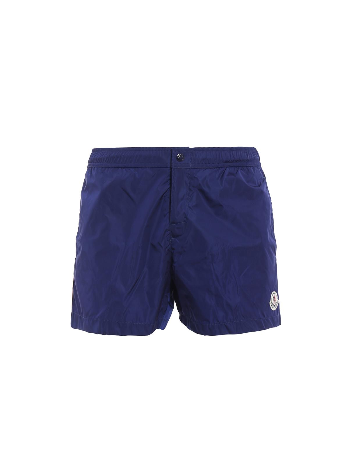 03e978c4dbee Moncler - Short De Bain Bleu Pour Homme - Shorts de bain - C1 091 ...