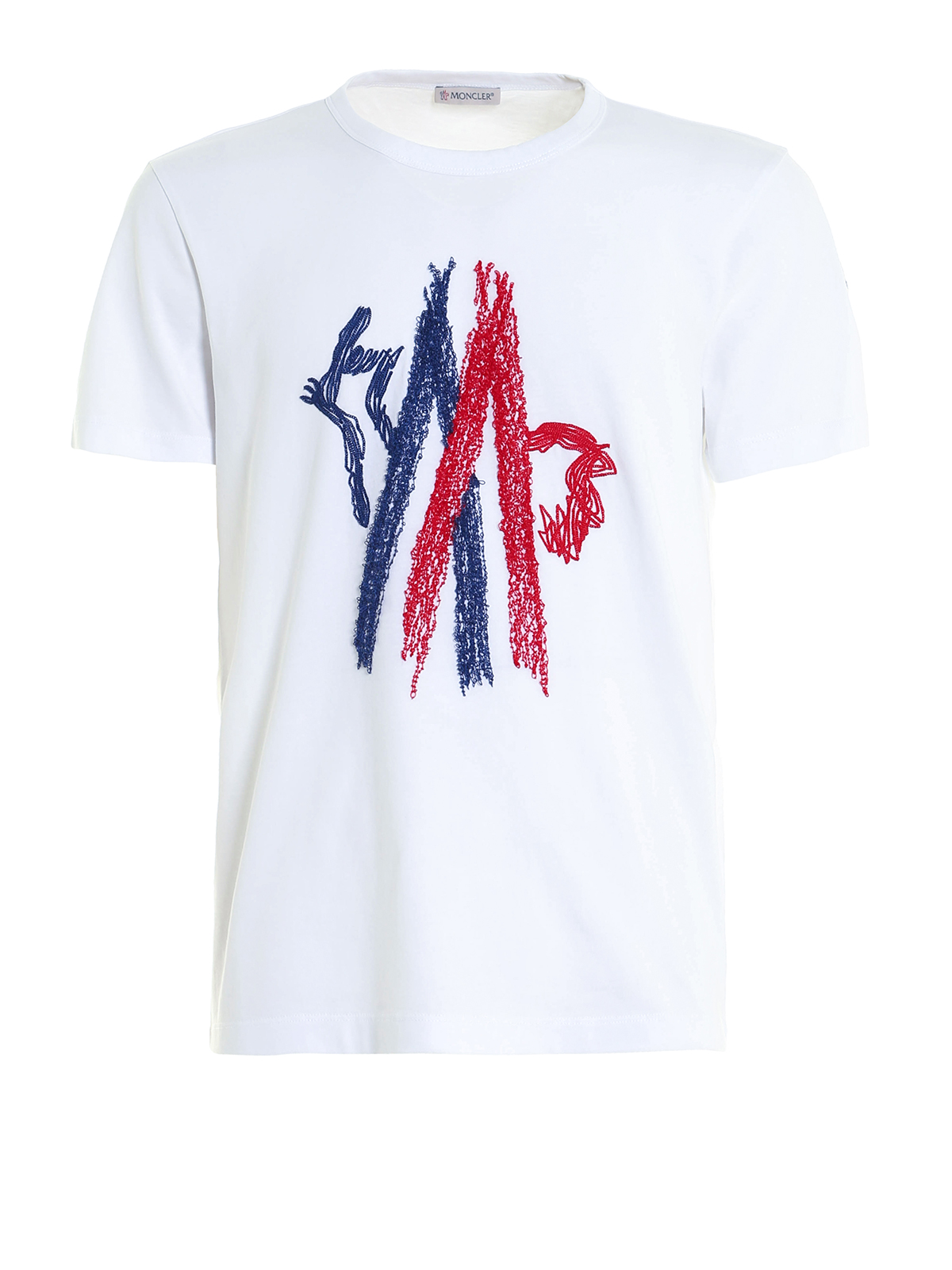 Embroidered cock logo t shirt by moncler t shirts ikrix for T shirt with embroidered logo