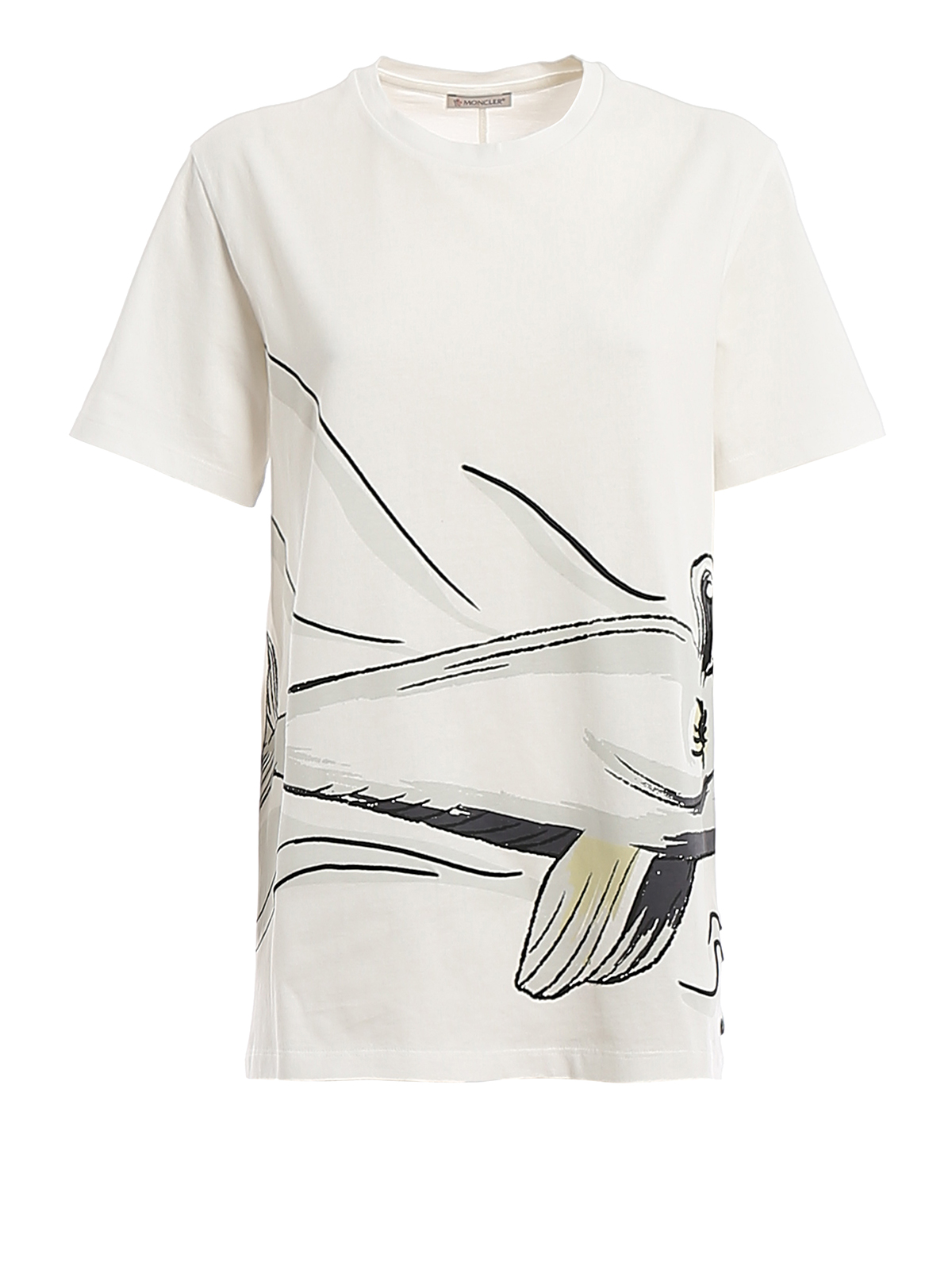 Moncler Cottons EMBROIDERED PRINTED COTTON T-SHIRT