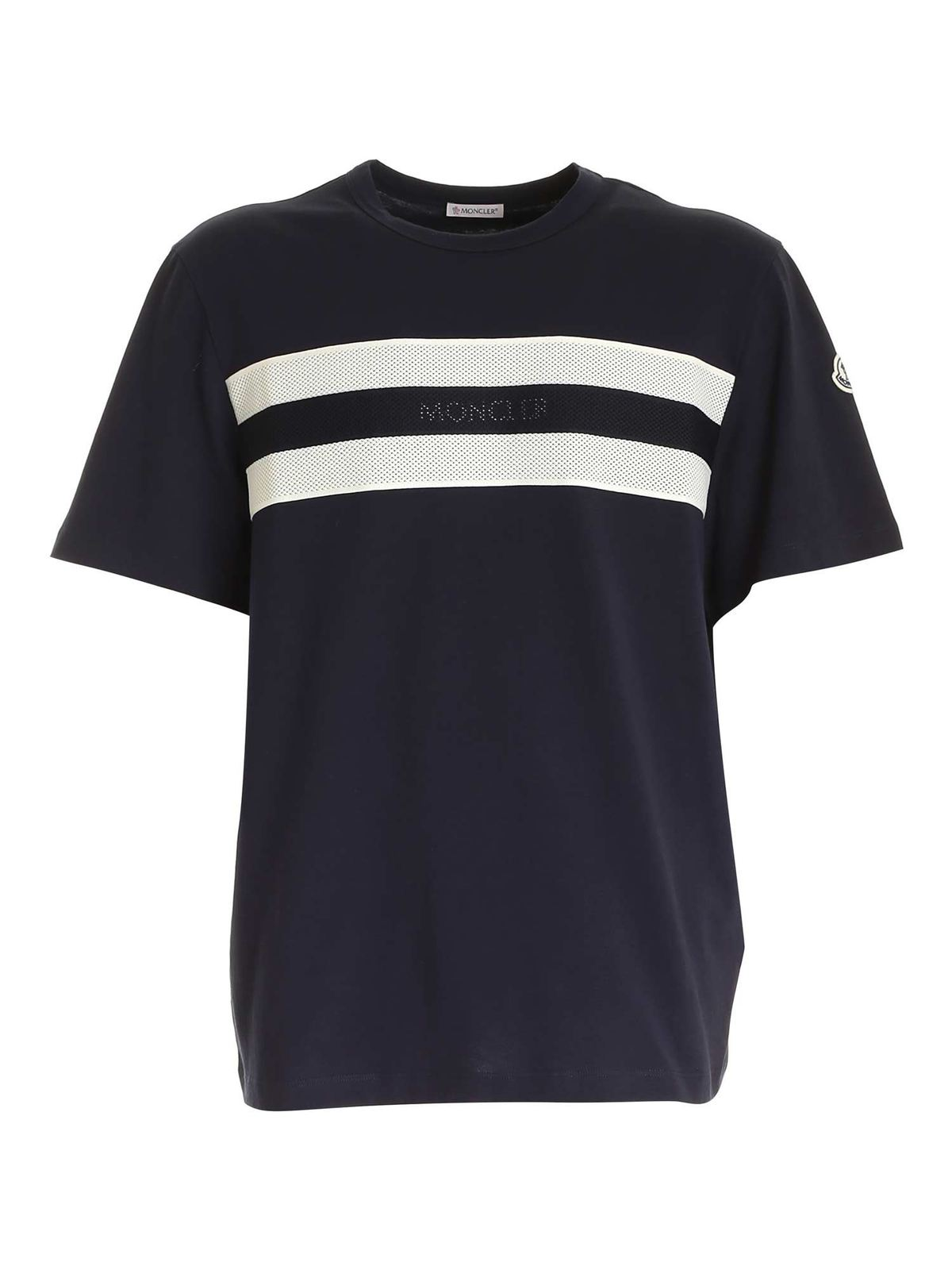Moncler LOGO DETAIL T-SHIRT IN BLUE