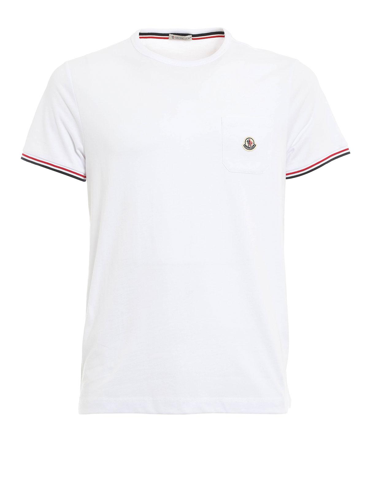 Moncler T Shirt Fur Herren Weiß T shirts B1 091