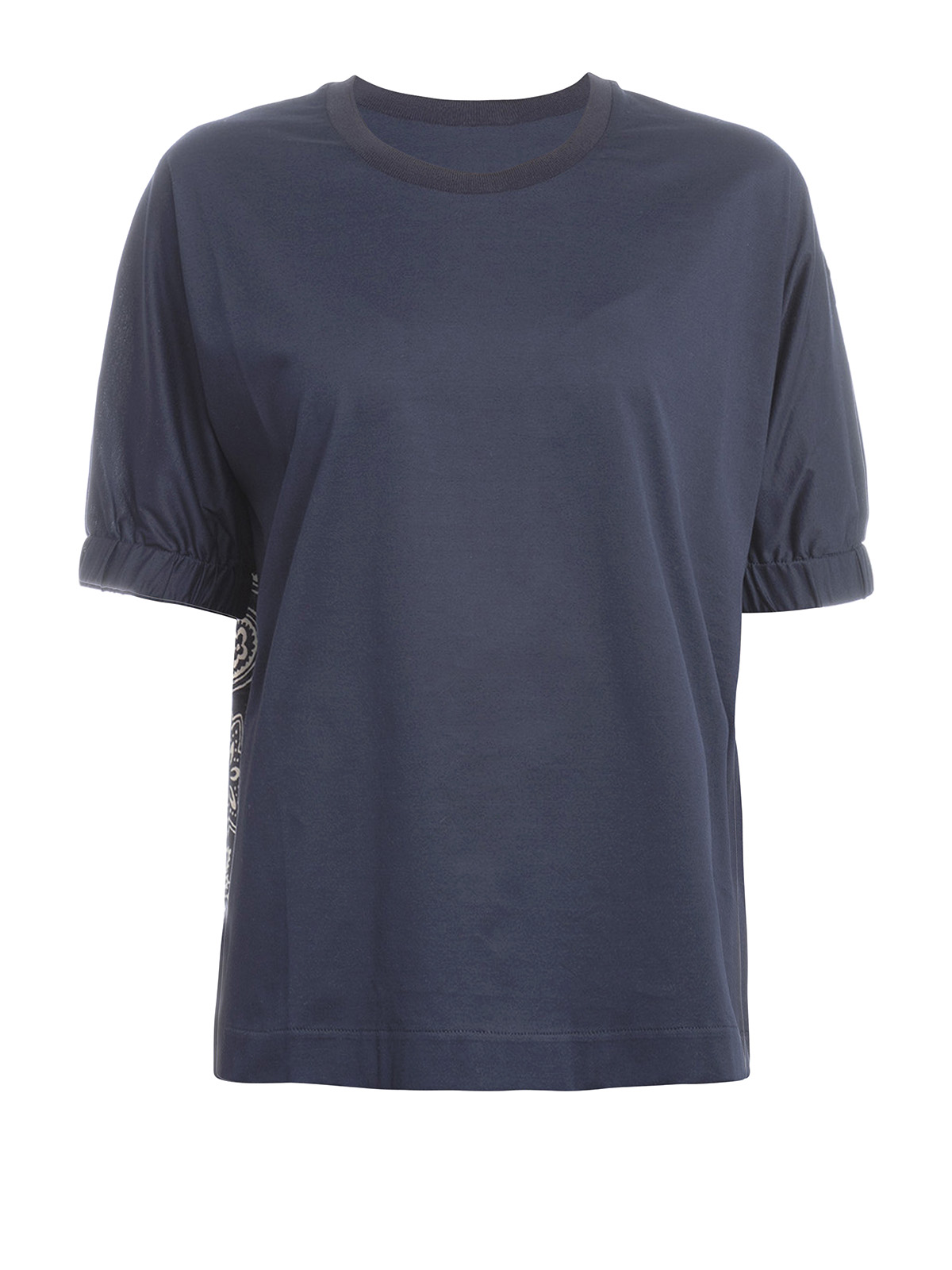 Printed silk and cotton tee by moncler t shirts shop for Cotton silk tee shirts