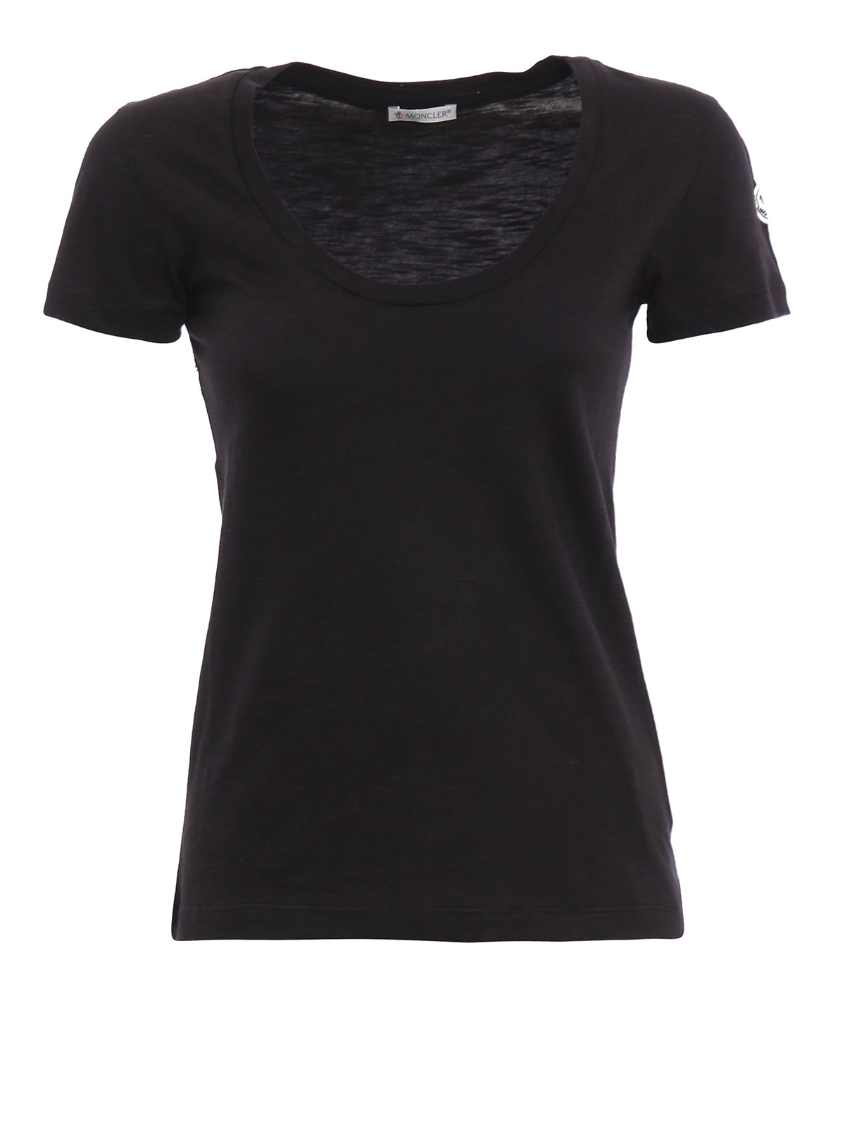 Scoop neck t shirt by moncler t shirts shop online at for Scoop neck t shirt