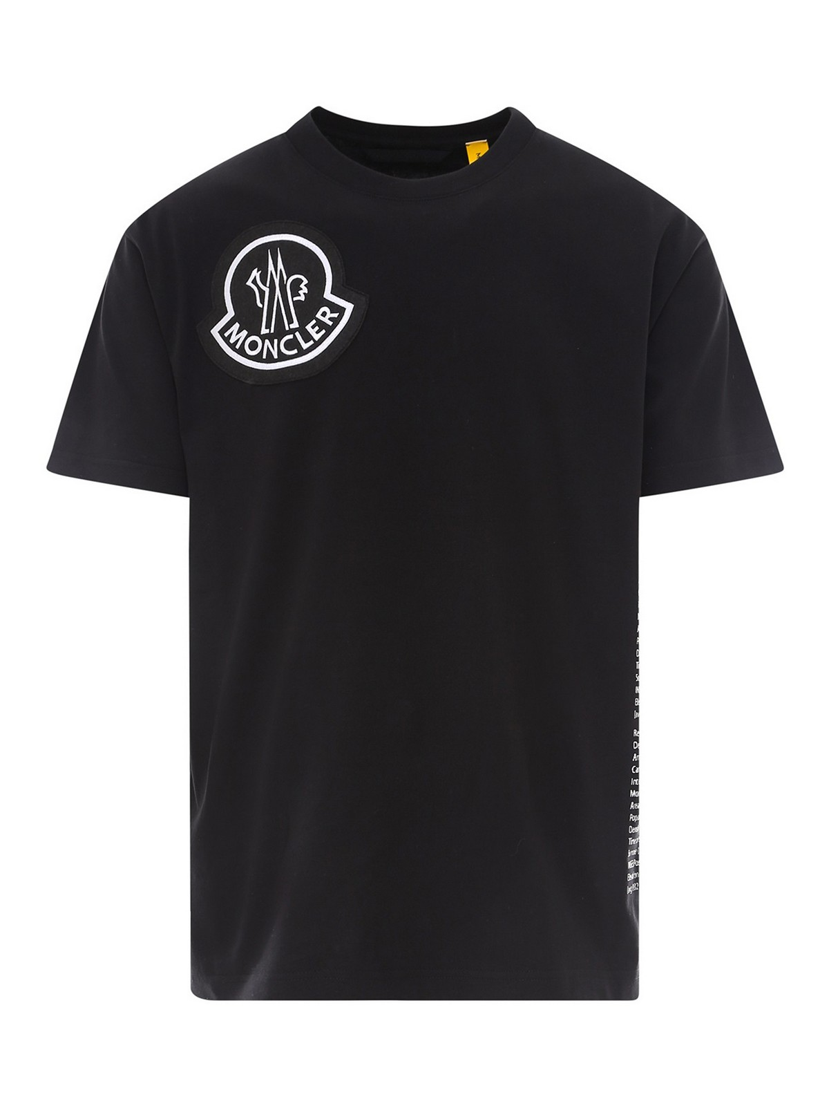 Moncler T-SHIRT WITH PATCHED LOGO