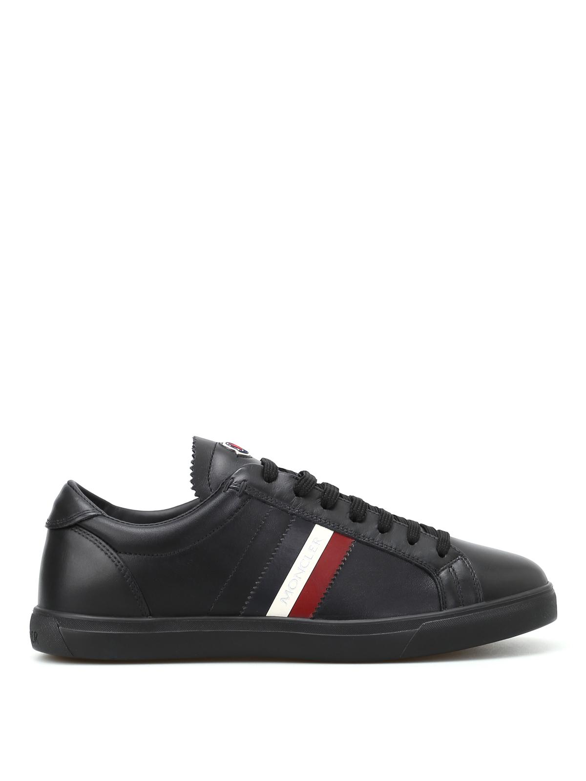 Moncler - Sneaker La Monaco in pelle nera - sneakers - C2 09A ... c4a801336e0