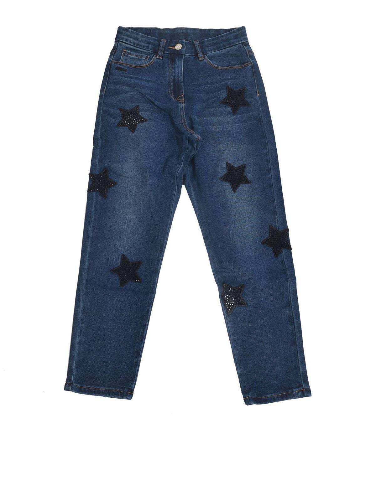 MONNALISA JEANS WITH STARS IN BLUE