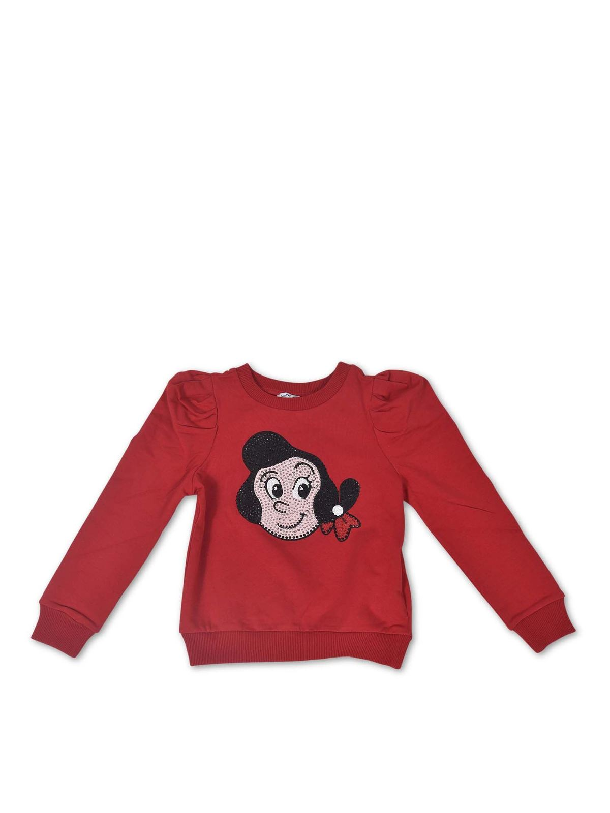 Monnalisa Cottons OLIVIA SWEATSHIRT IN RED