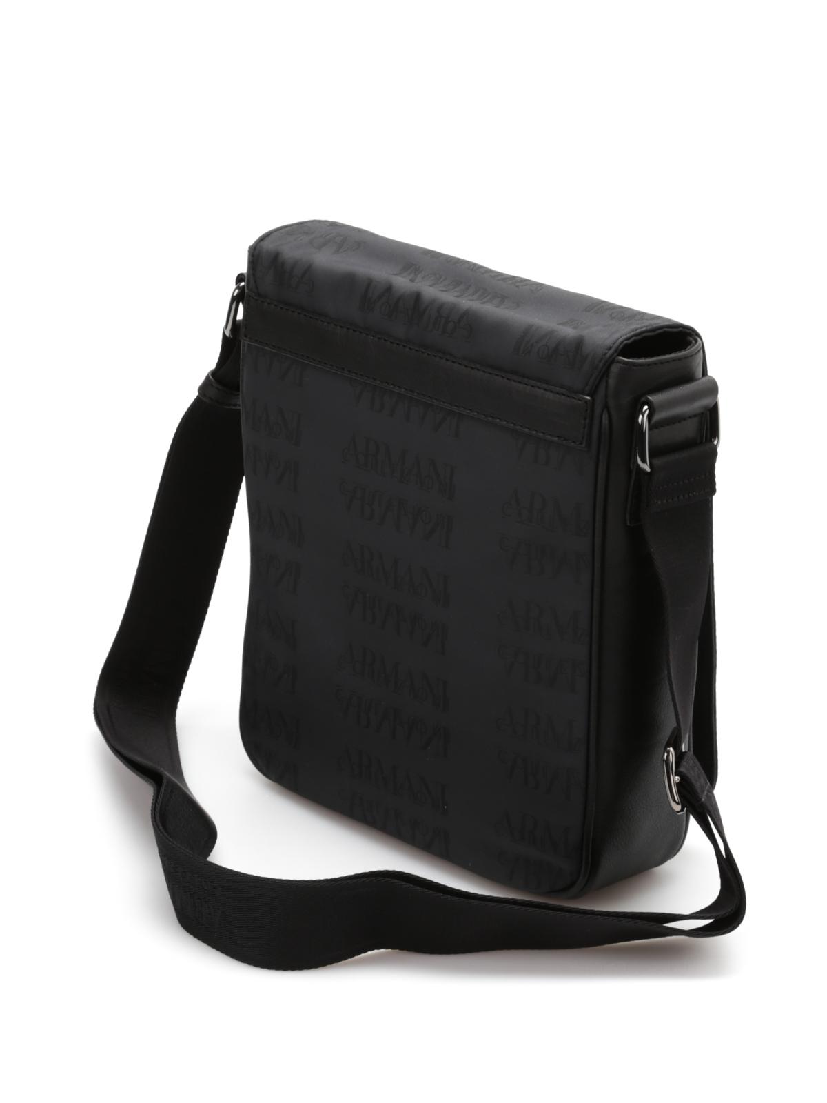 Armani Collezioni - Monogram messenger bag - cross body bags - BI202 ... 1425c82c3b0e4