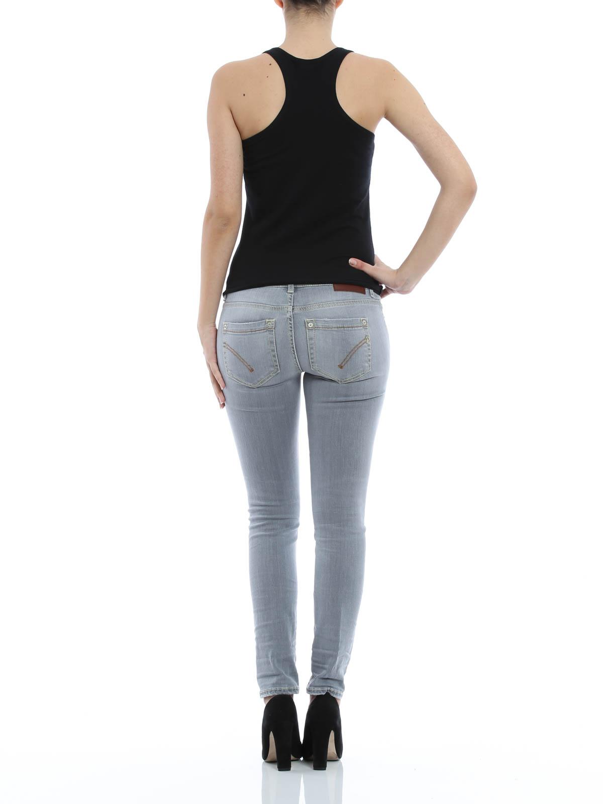 skinny jeans fur damen grau von dondup skinny jeans. Black Bedroom Furniture Sets. Home Design Ideas