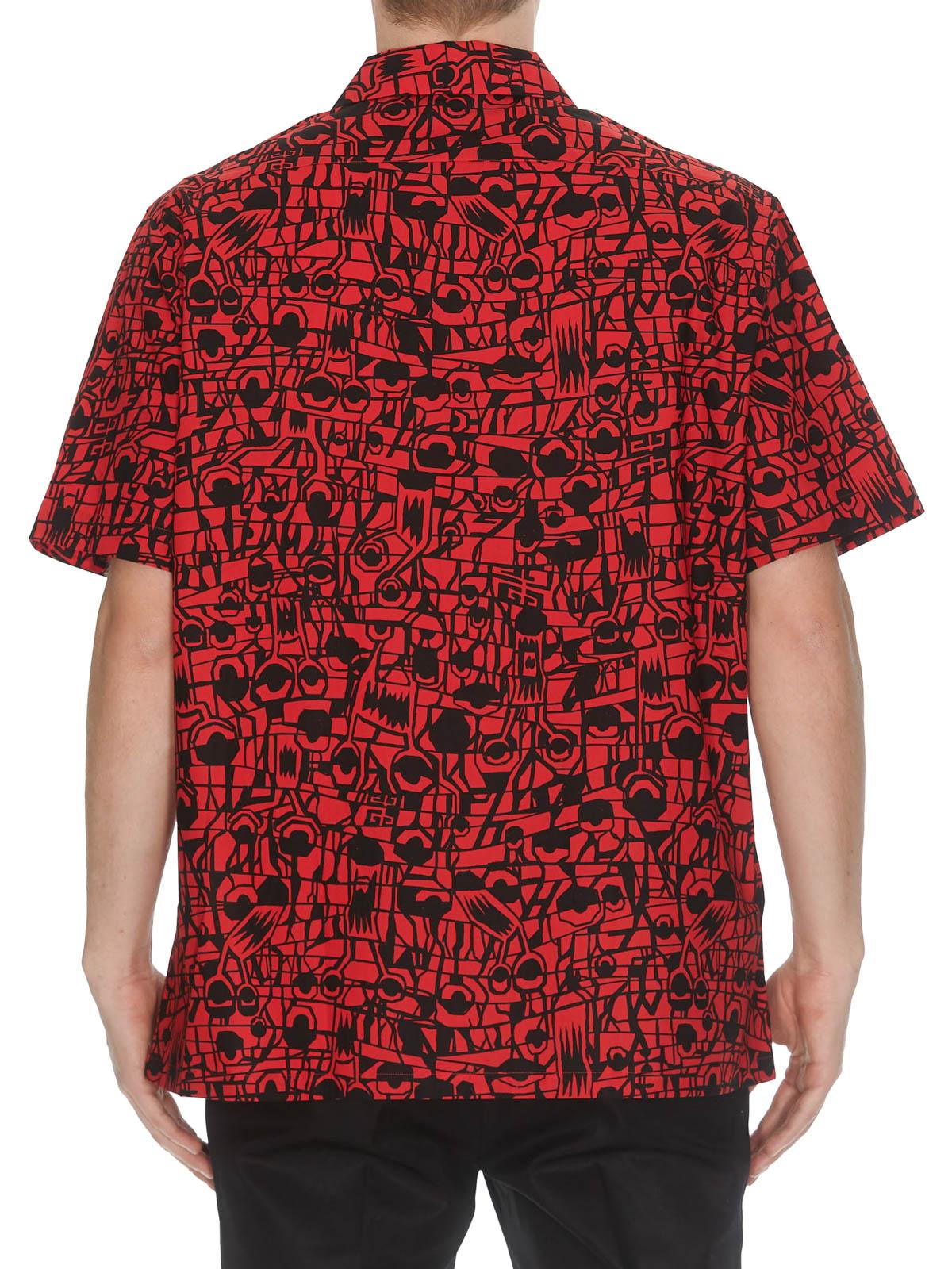 32d7d057 Givenchy - Monster printed cotton Hawaiian shirt - shirts ...