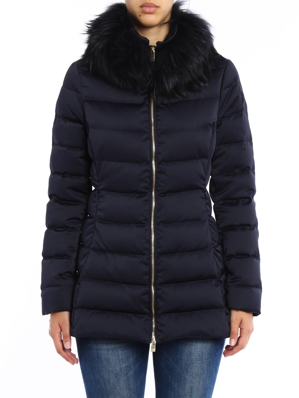 Montecore Piumino trapuntato con pelliccia cappotti