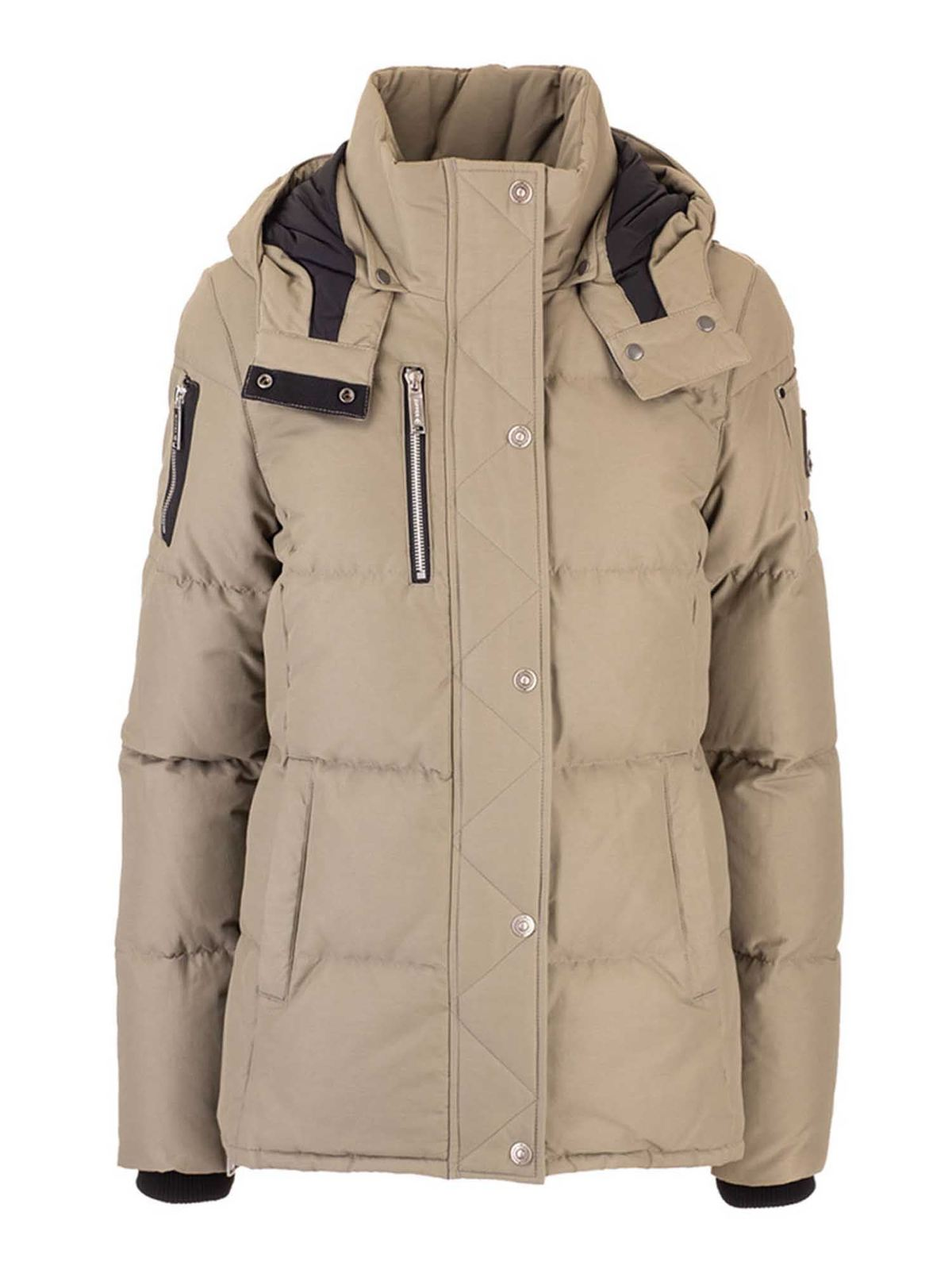 Moose Knuckles HOODED DOWN JACKET IN BEIGE