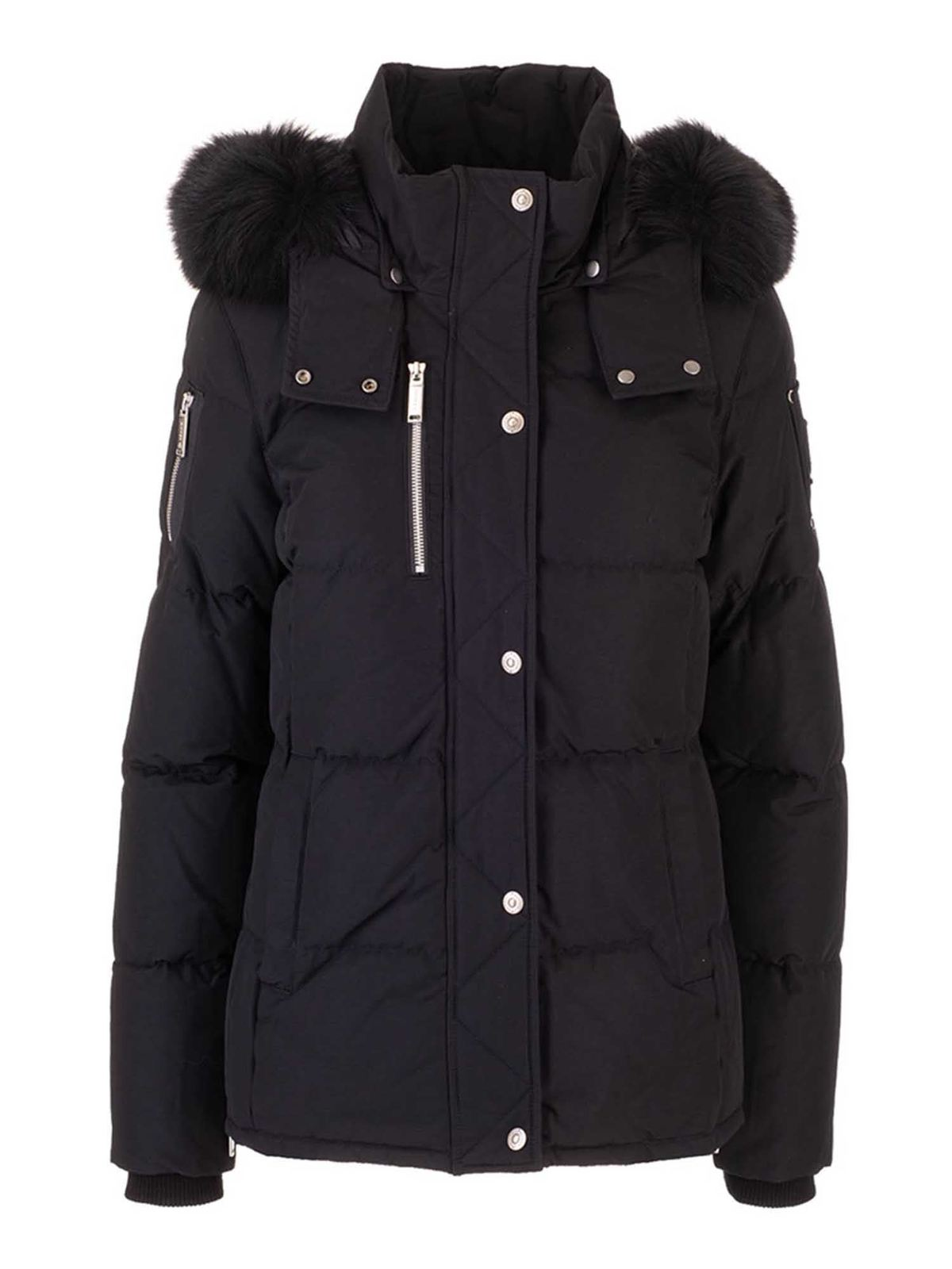 Moose Knuckles HOODED DOWN JACKET IN BLACK