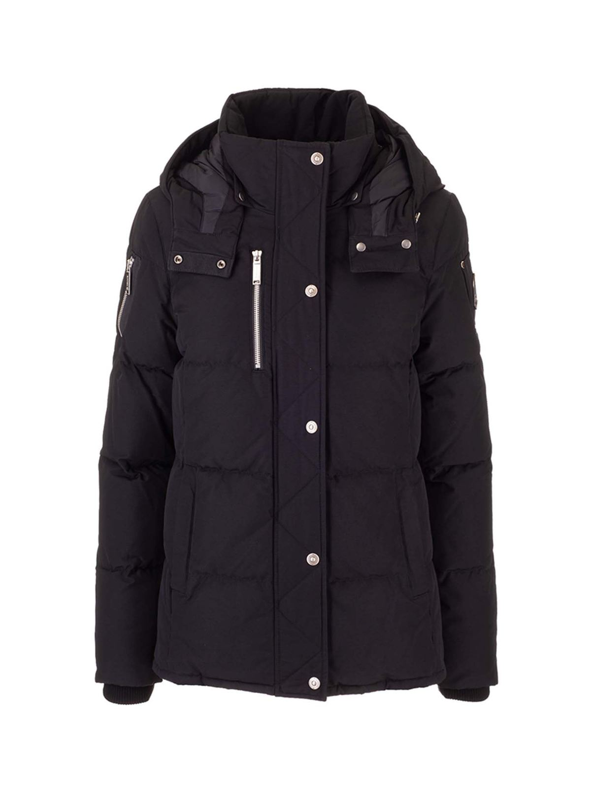 Moose Knuckles QUILTED DOWN JACKET IN BLACK