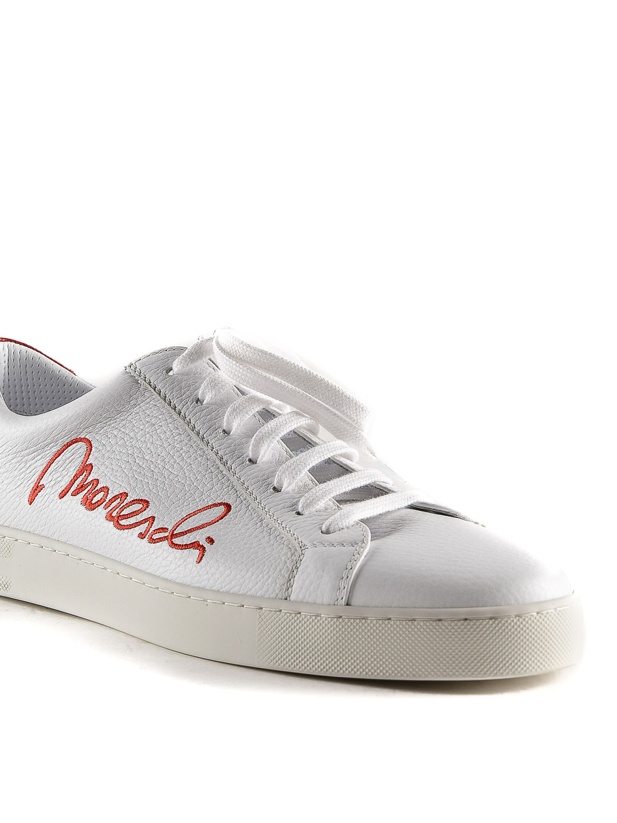 White and red Signature sneakers