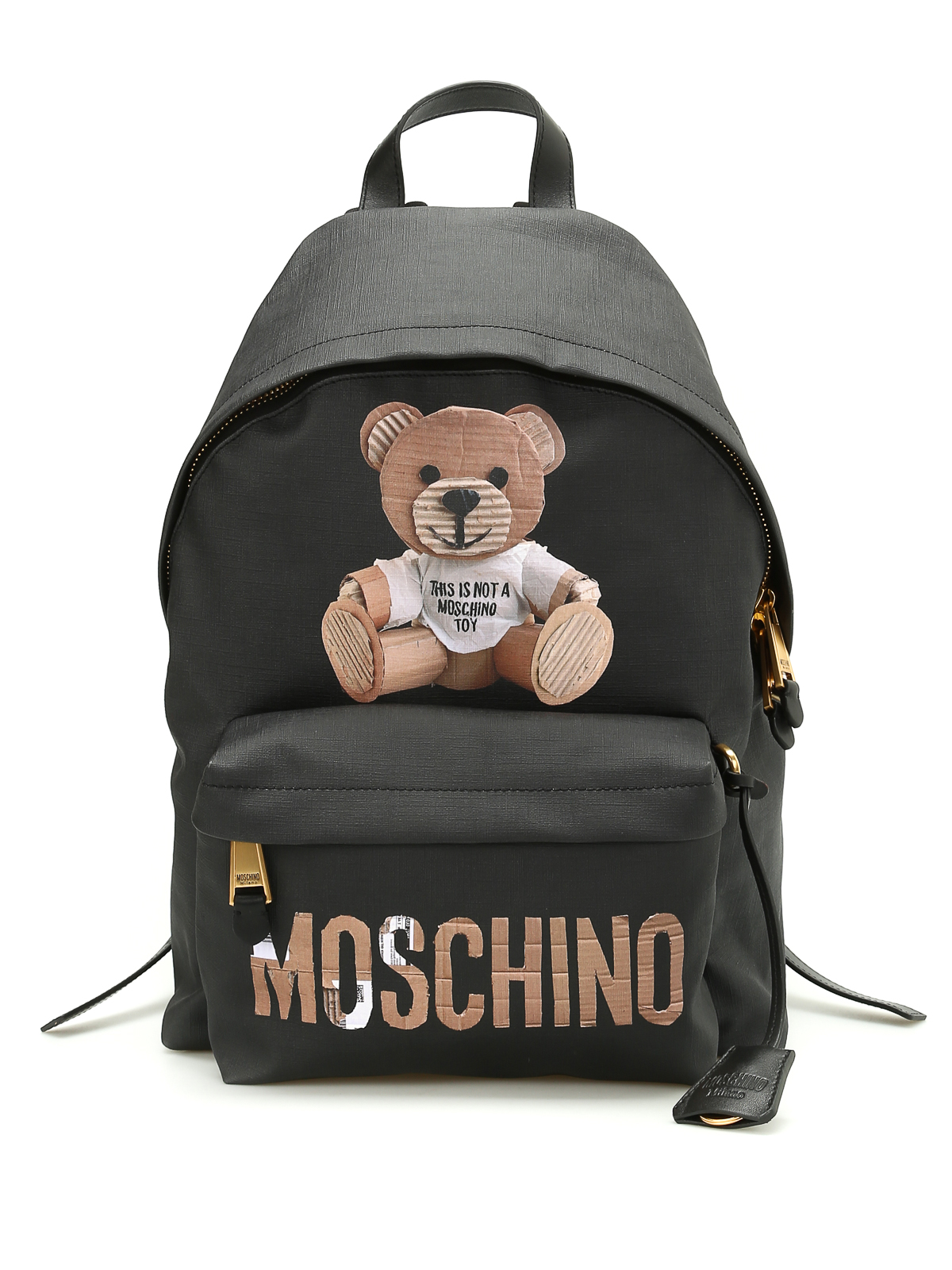 Moschino Saffiano Leather Backpack Backpacks