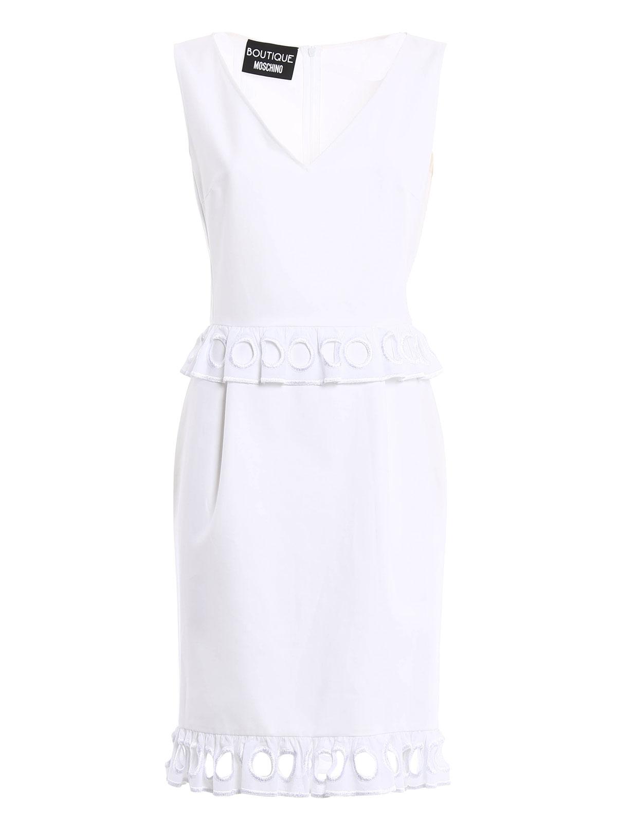 Cocktailkleid - Weiß von Moschino Boutique - Cocktailkleider | iKRIX