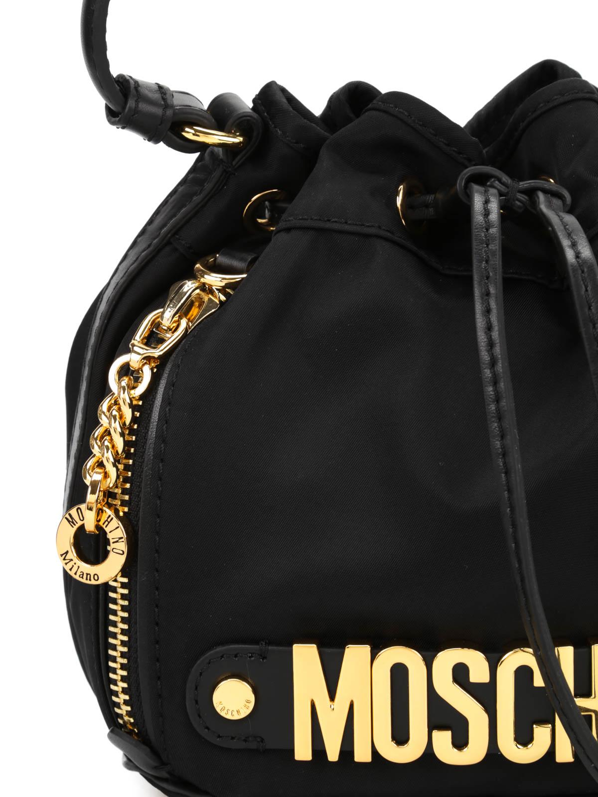 Moschino Borsa a secchiello con logo Secchielli